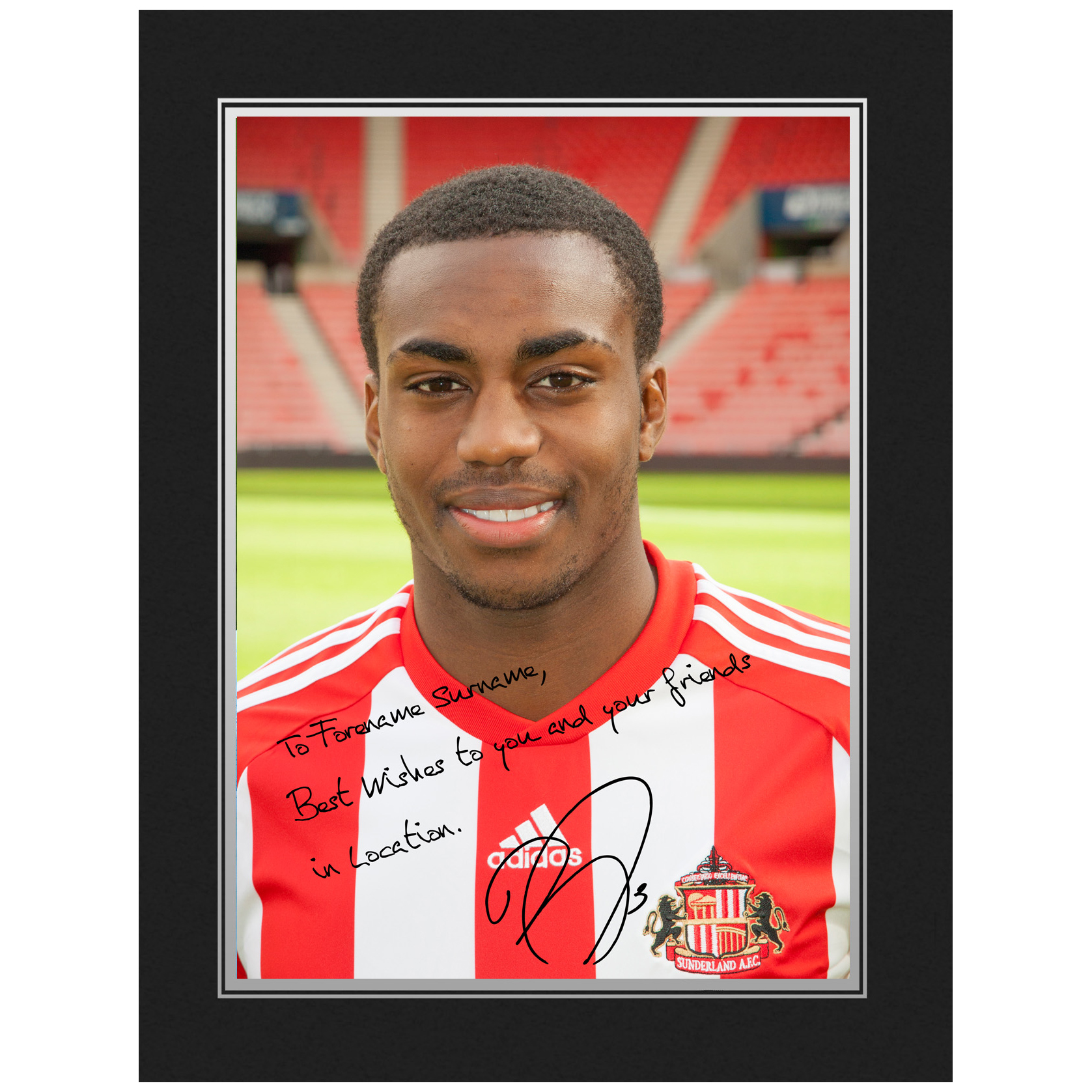 Sunderland Personalised Signature Photo in Presentation Folder - Rose