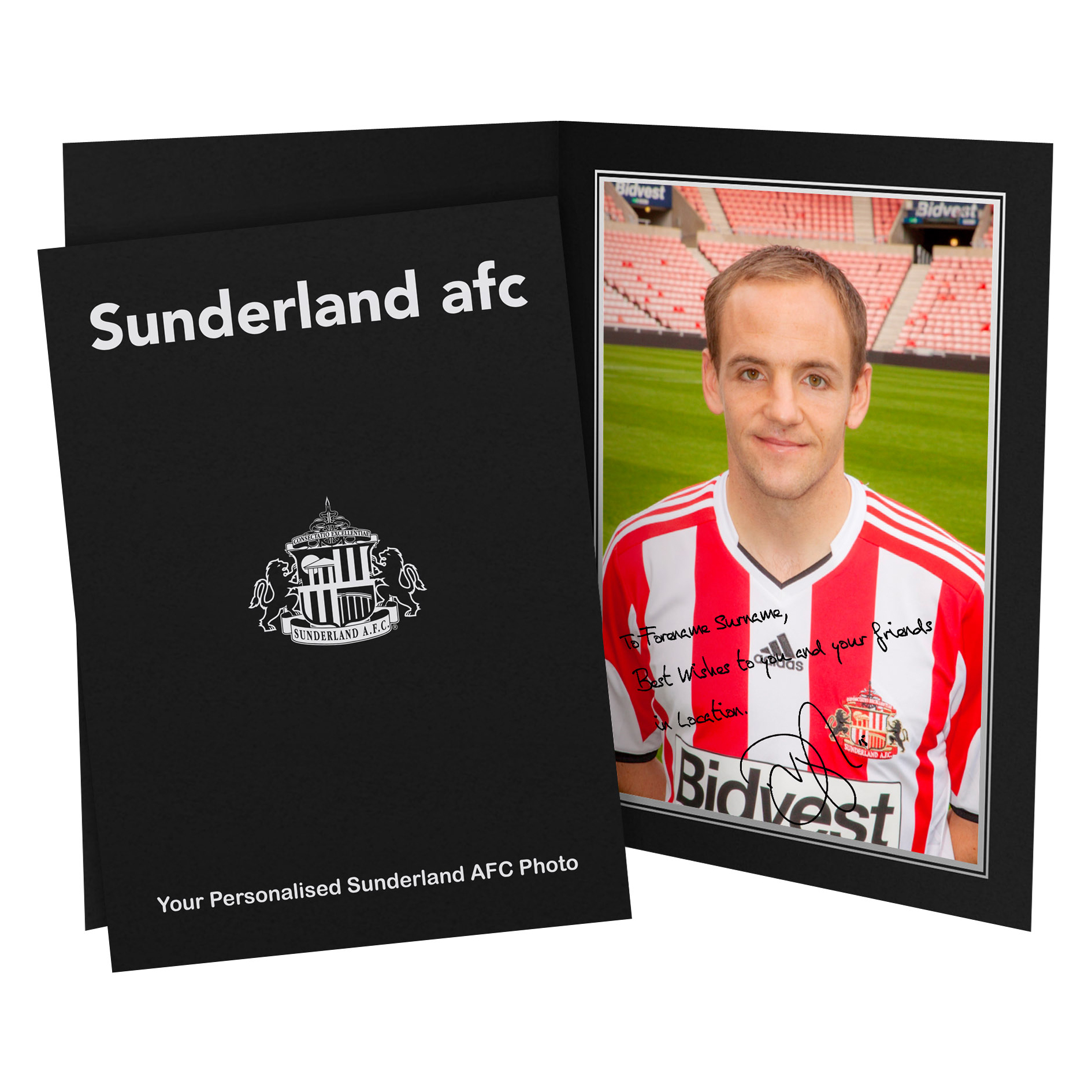 Sunderland Personalised Signature Photo in Presentation Folder- Vaughan