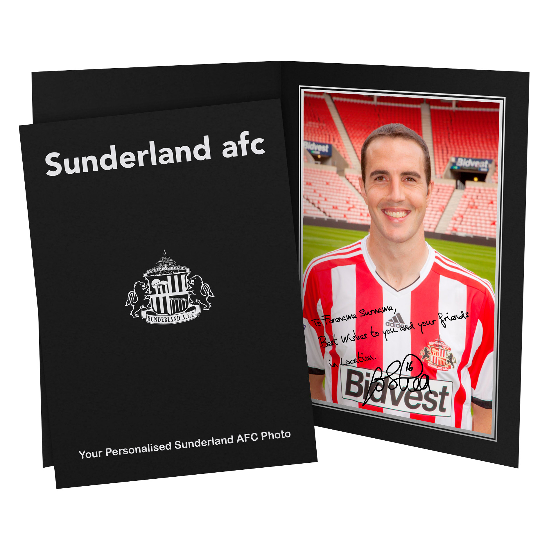 Sunderland Personalised Signature Photo in Presentation Folder - O Shea