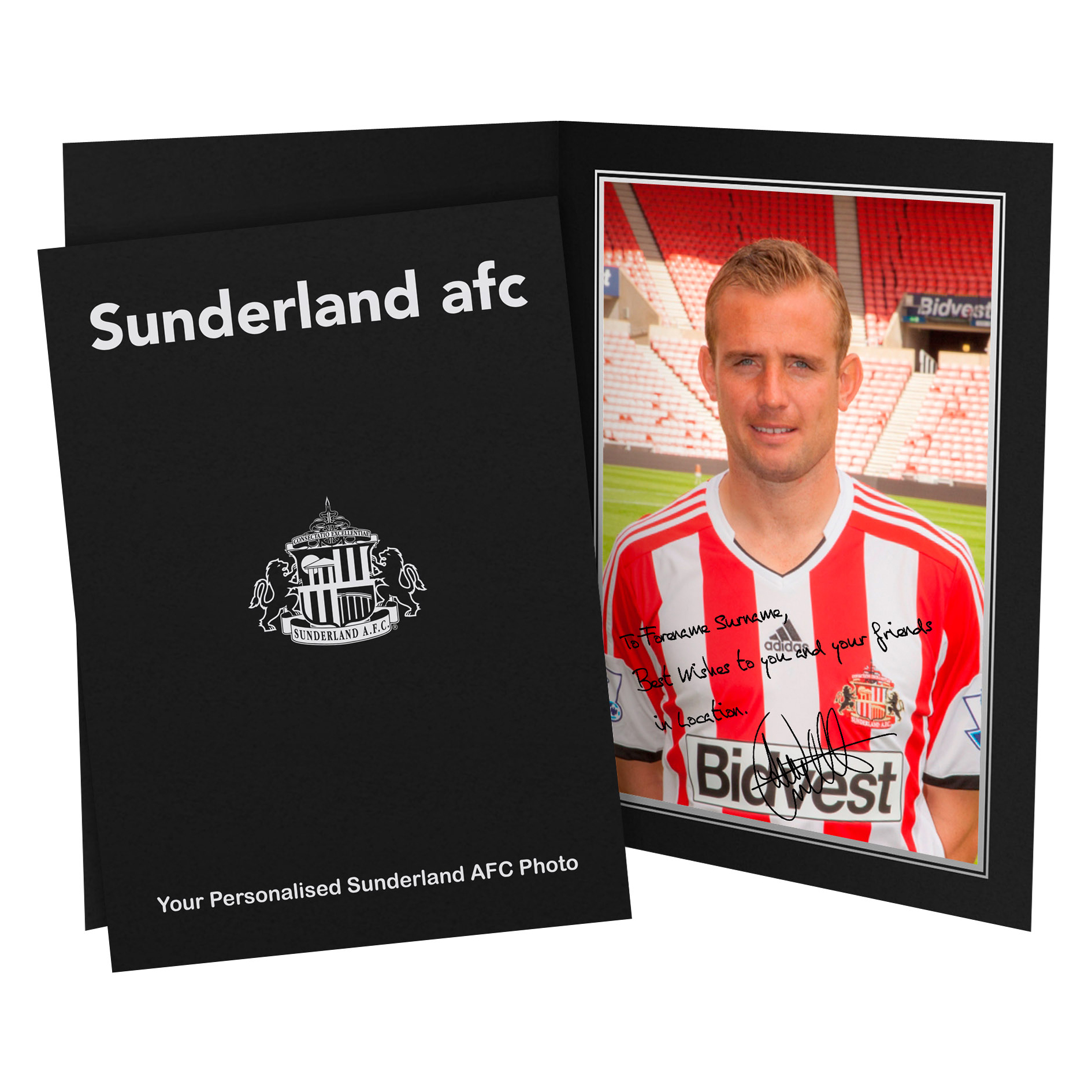 Sunderland Personalised Signature Photo in Presentation Folder - Cattermole