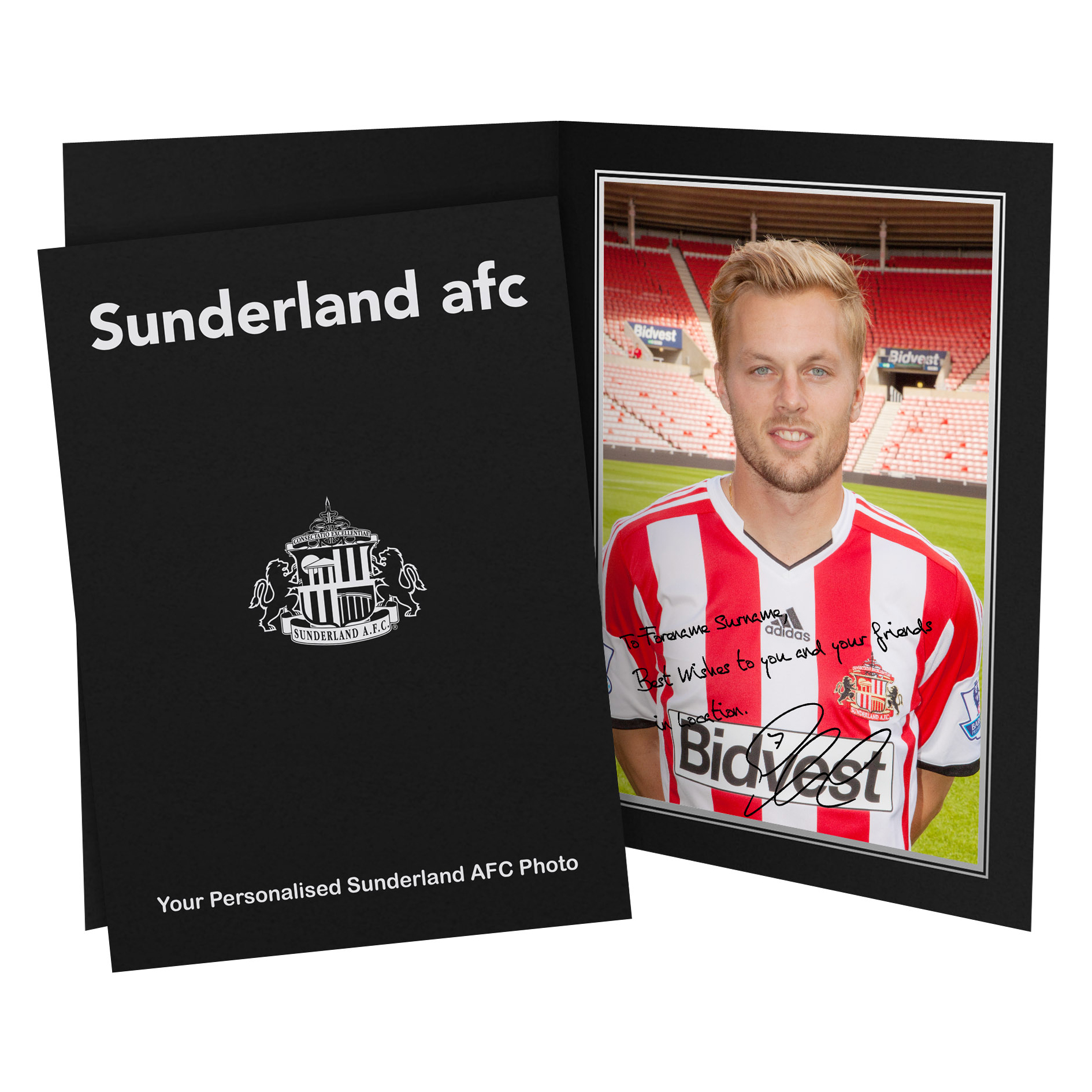 Sunderland Personalised Signature Photo in Presentation Folder -Larsson