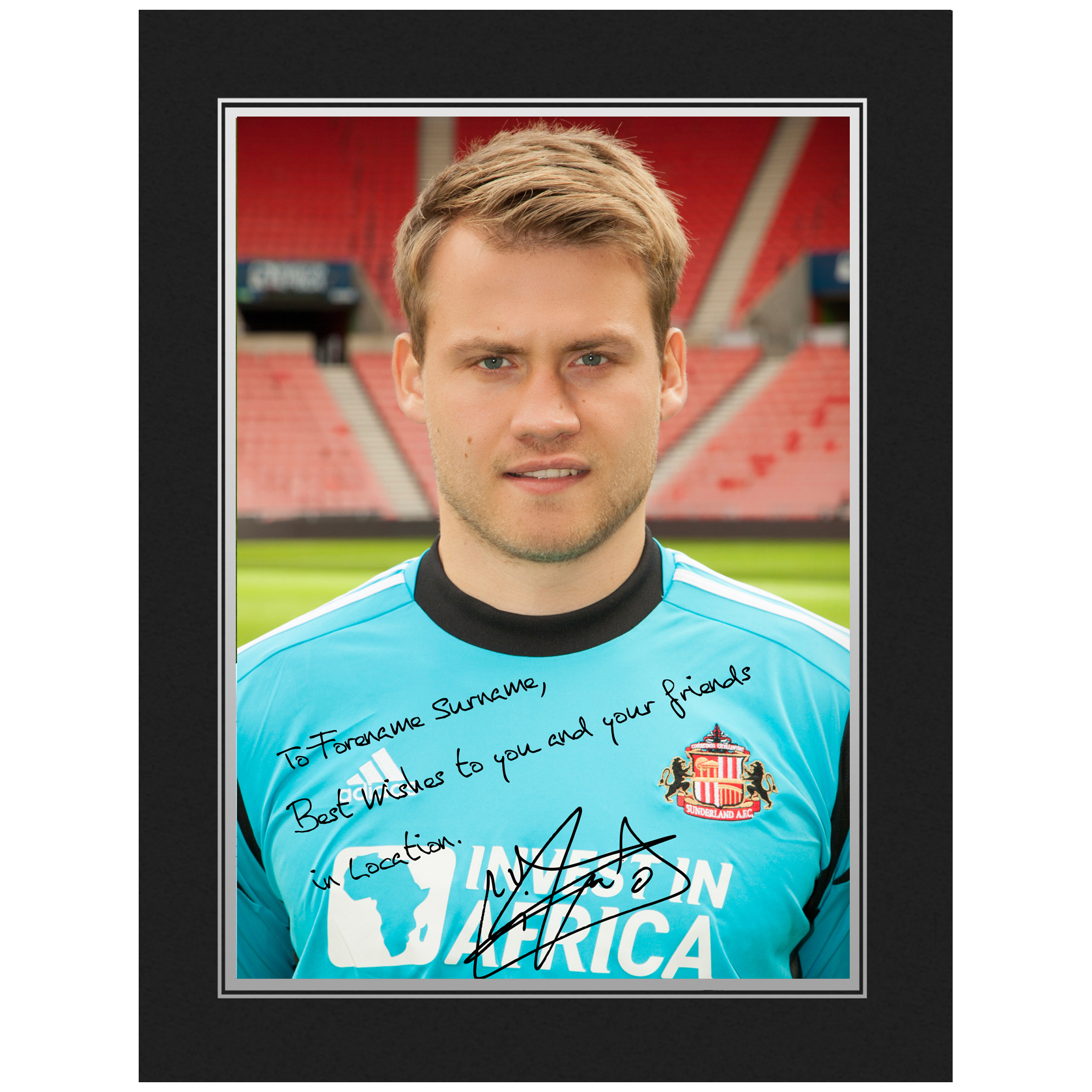 Sunderland Personalised Signature Photo in Presentation Folder - Mignolet