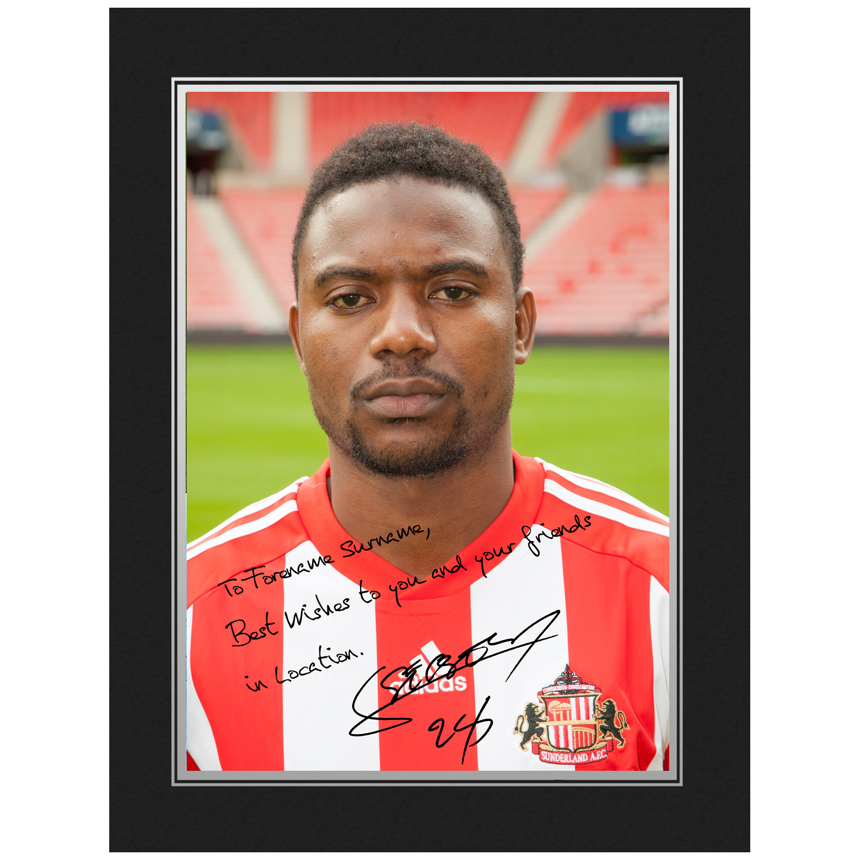 Sunderland Personalised Signature Photo in Presentation Folder  - Sessegnon