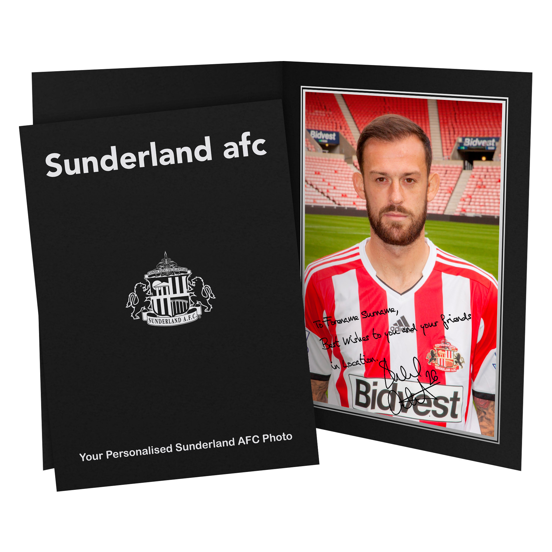Sunderland Personalised Signature Photo in Presentation Folder - Fletcher