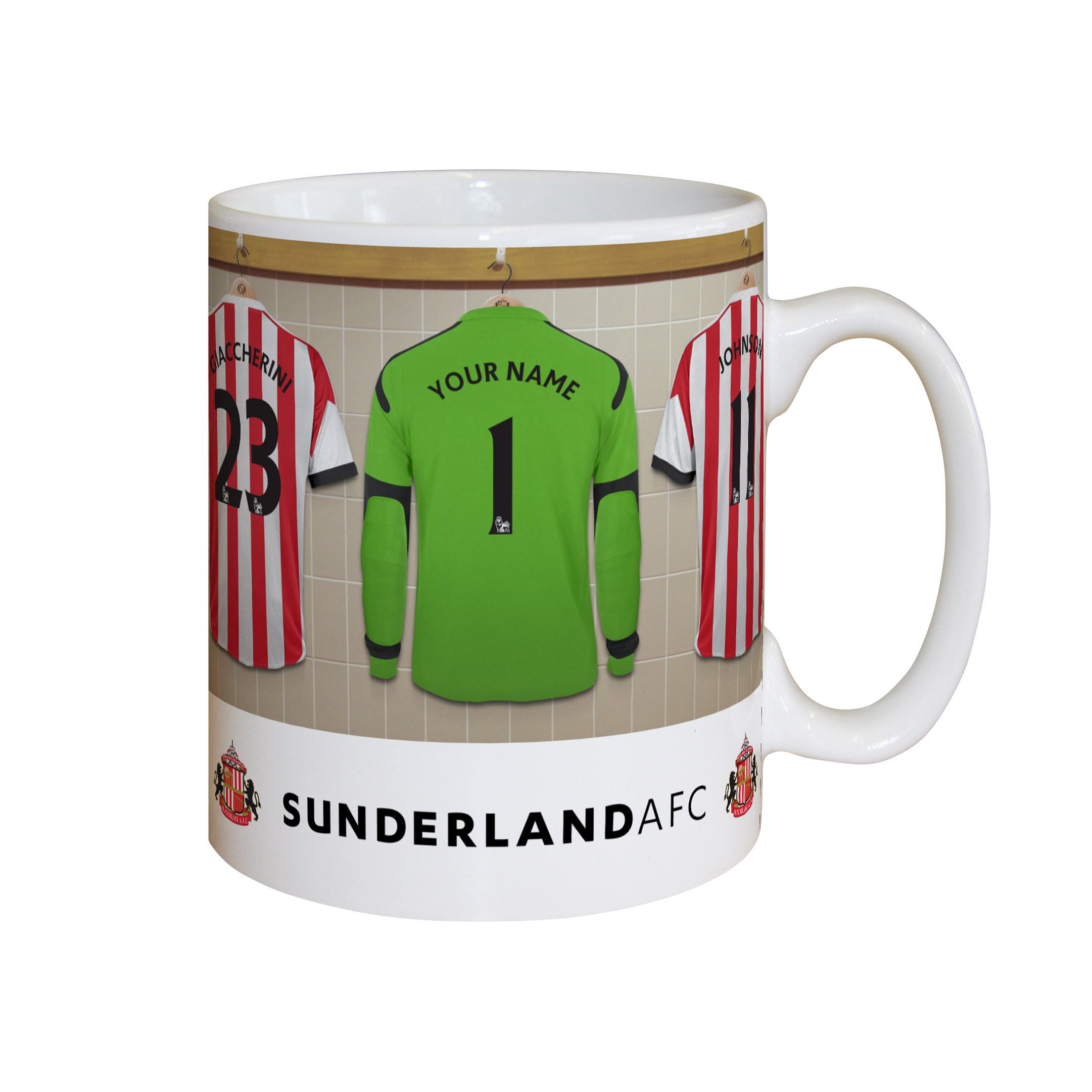 Sunderland Personalised Goalkeeper Dressing Room Mug