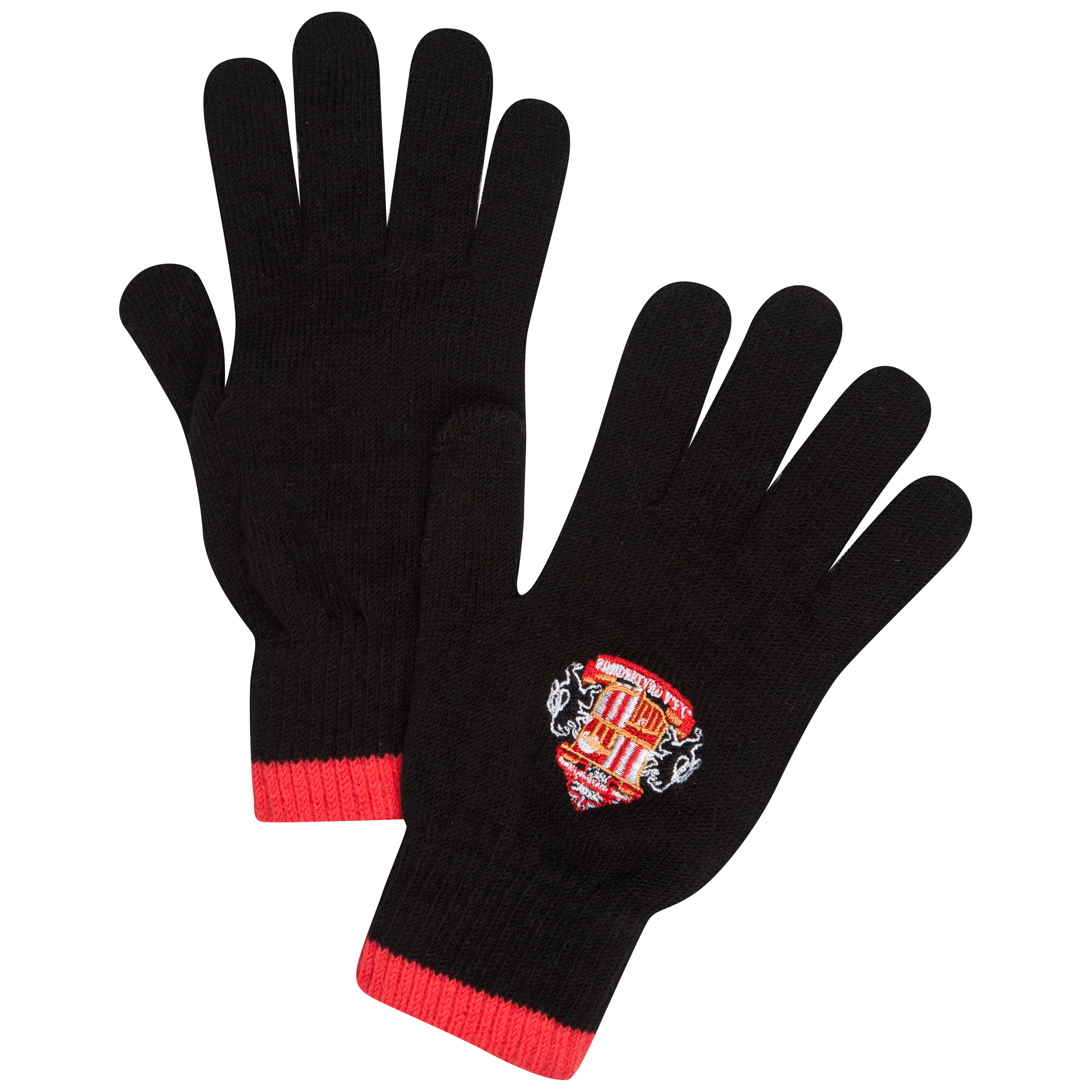 Sunderland Core Knitted Gloves - Black - Junior