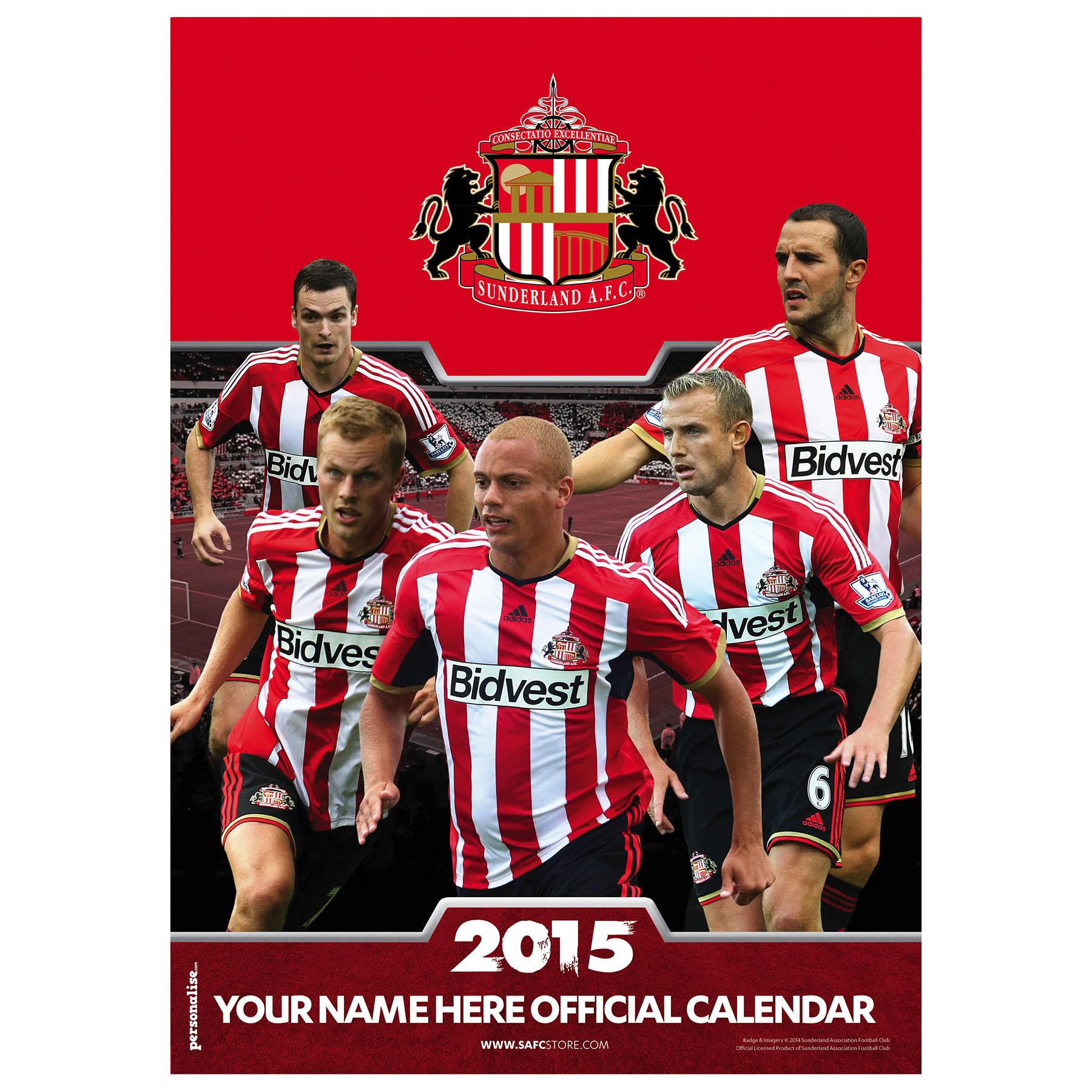 Sunderland Personalised Calendar 2015