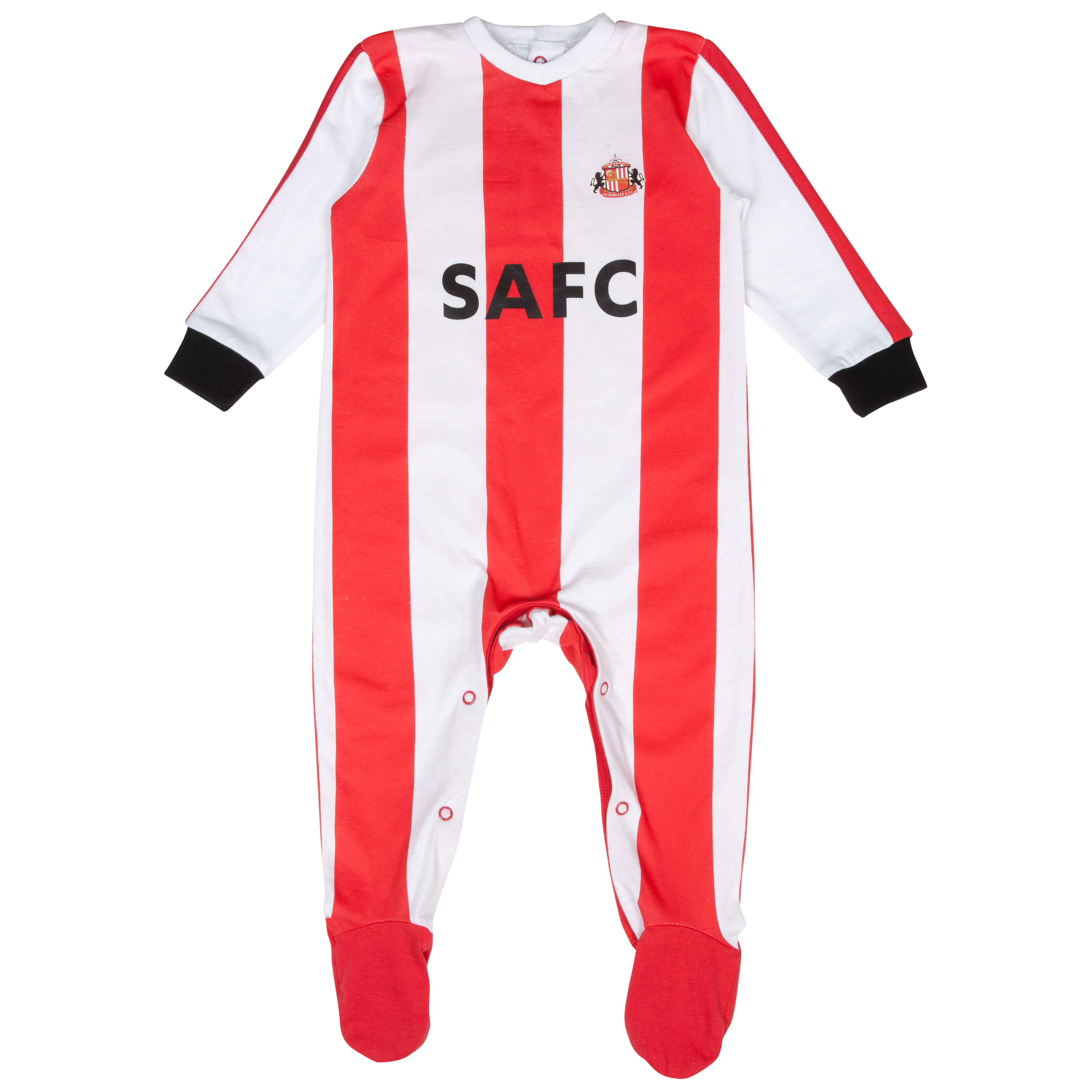 Sunderland 13/14 Kit Sleepsuit - Red/White - Baby
