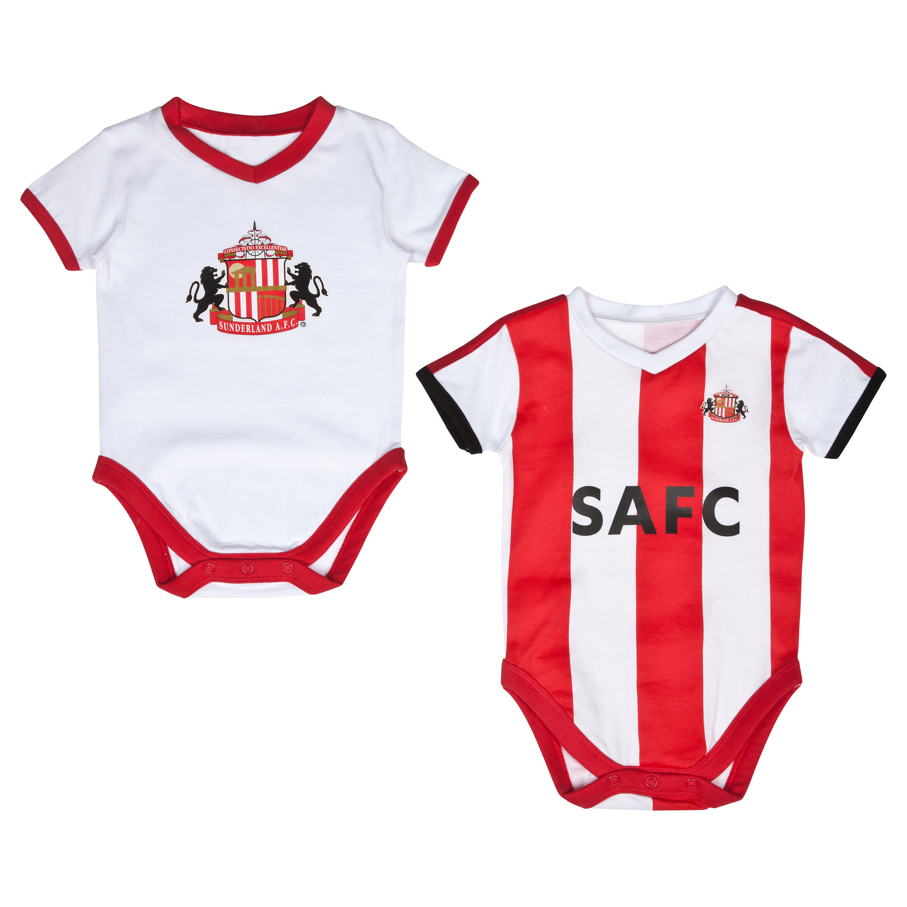 Sunderland 12/14 Kit Pack of 2 Bodysuits - Red/White - Baby