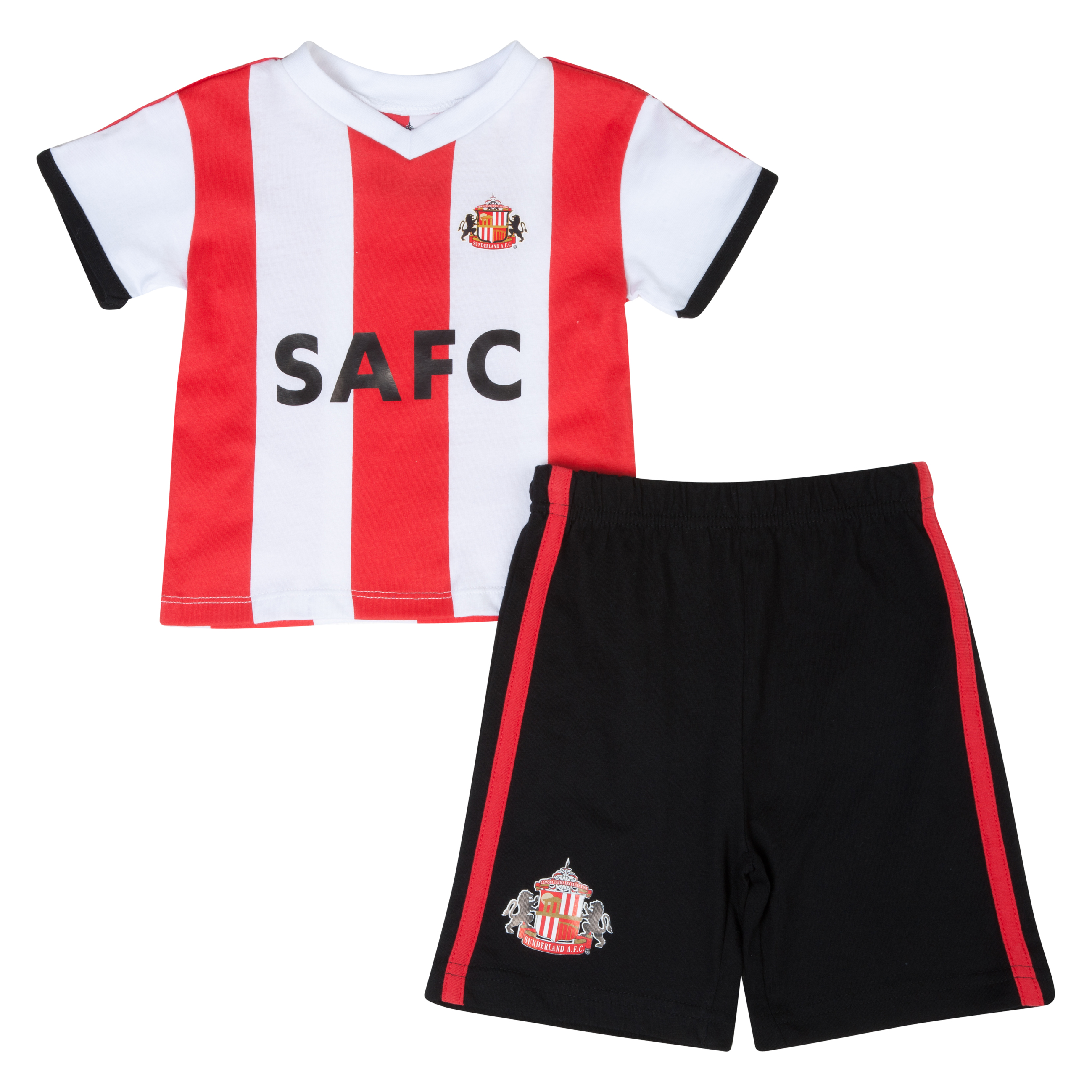 Sunderland 13/14 Kit Pyjama - Red/White/Black - Baby