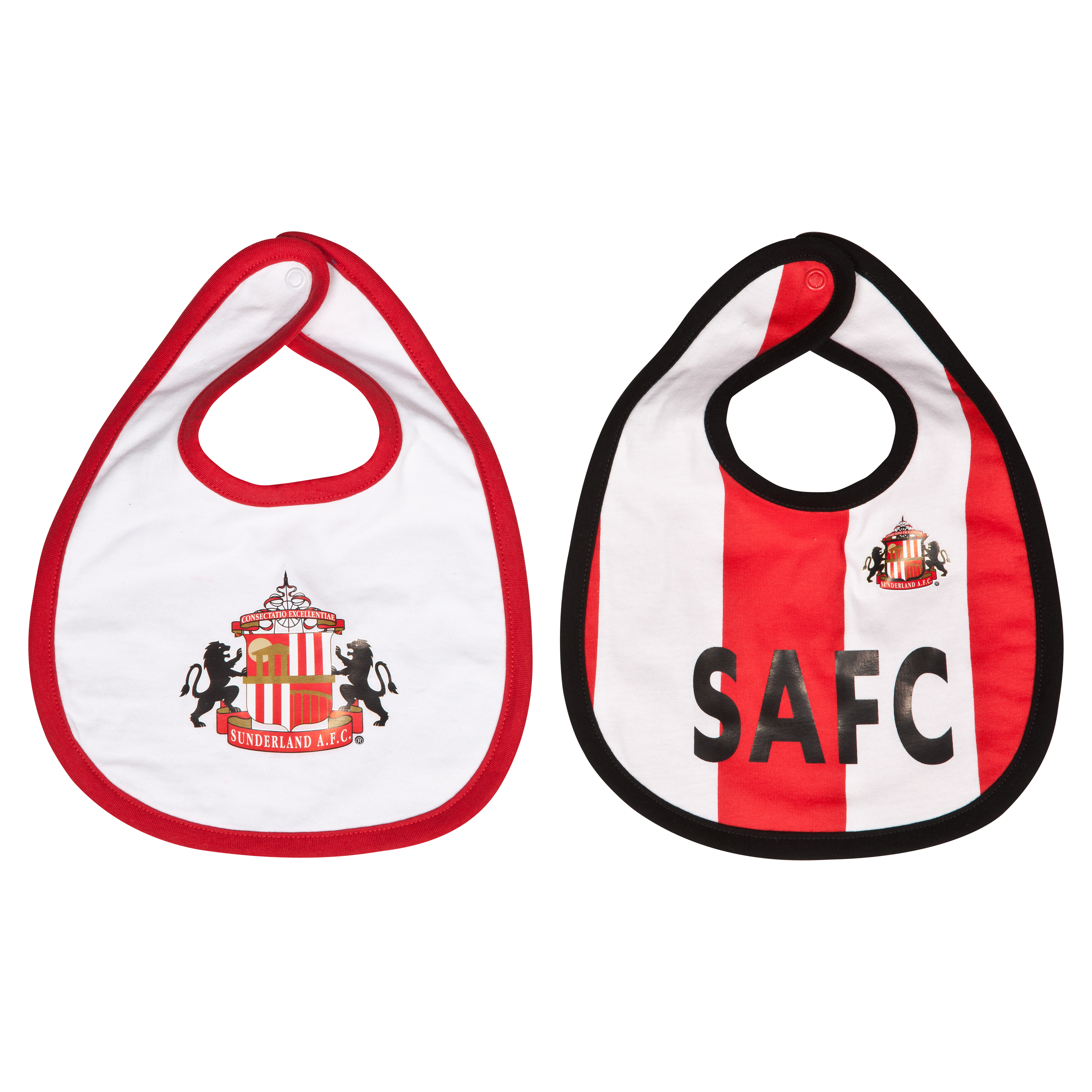 Sunderland 13/14 Kit Pack of 2 Bibs - Red/White - Baby