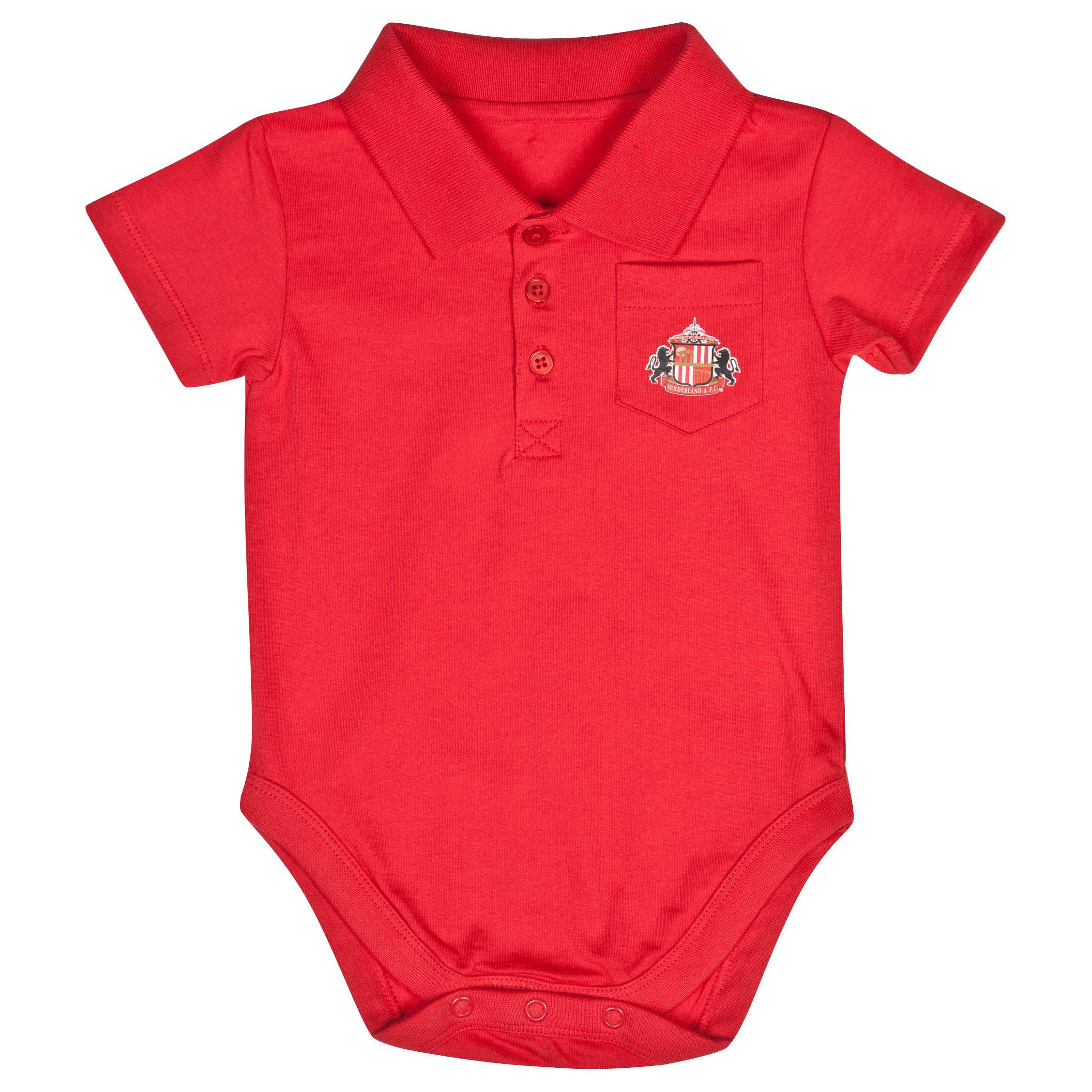 Sunderland Pocket Bodysuit - Red - Baby