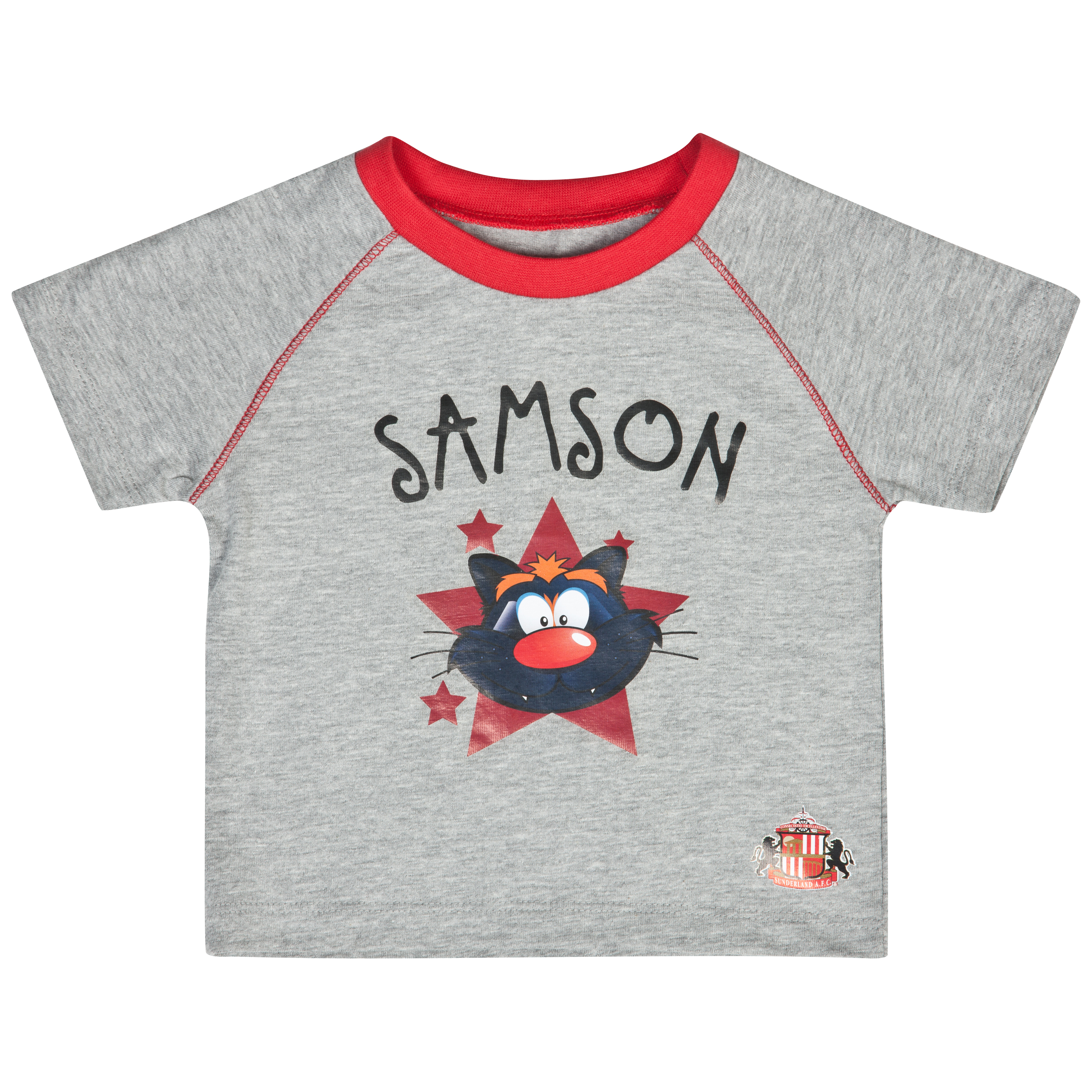 Sunderland Samson T-Shirt - Grey/Red - Baby