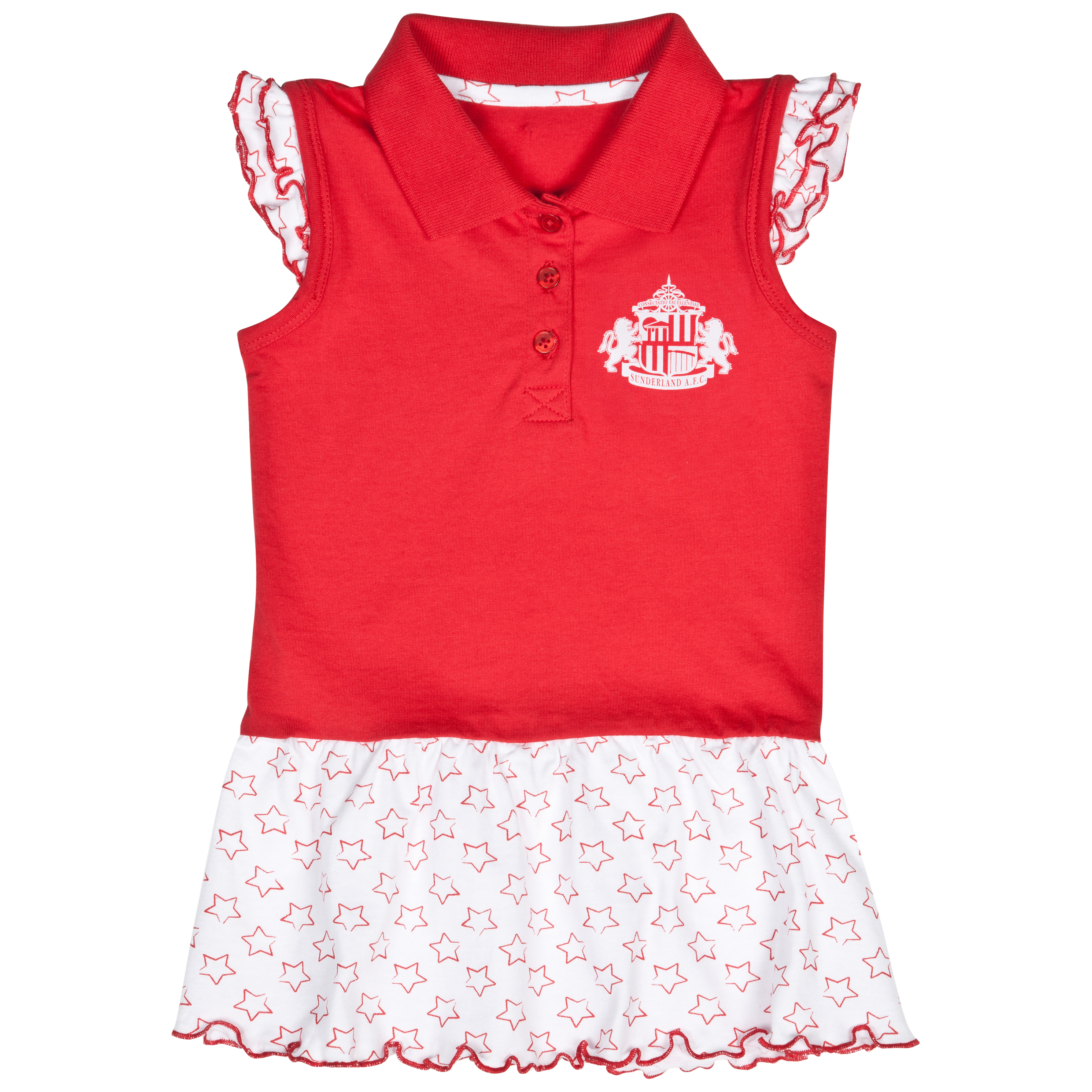 Sunderland Stars Tennis Dress - Red/White - Baby