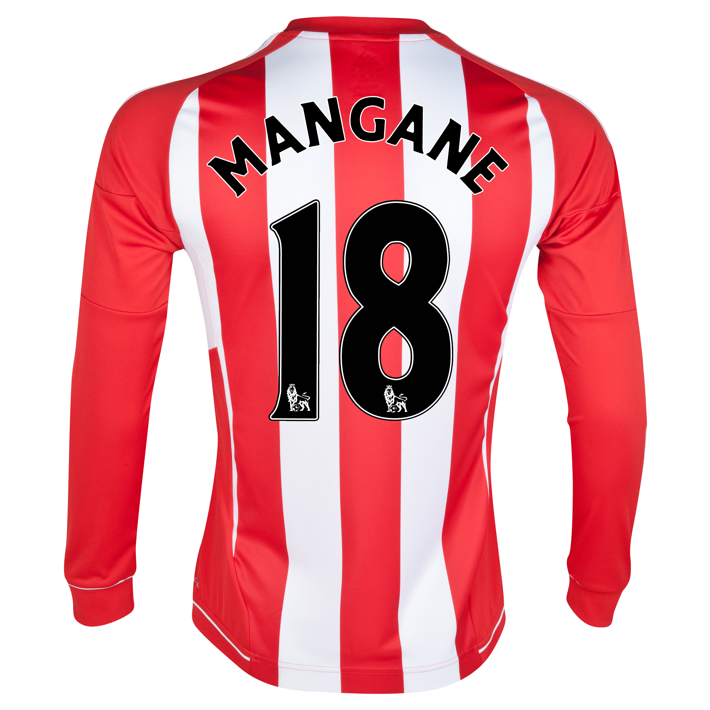 Sunderland Home Shirt 2012/13 - Long Sleeved with Mangane 18 printing