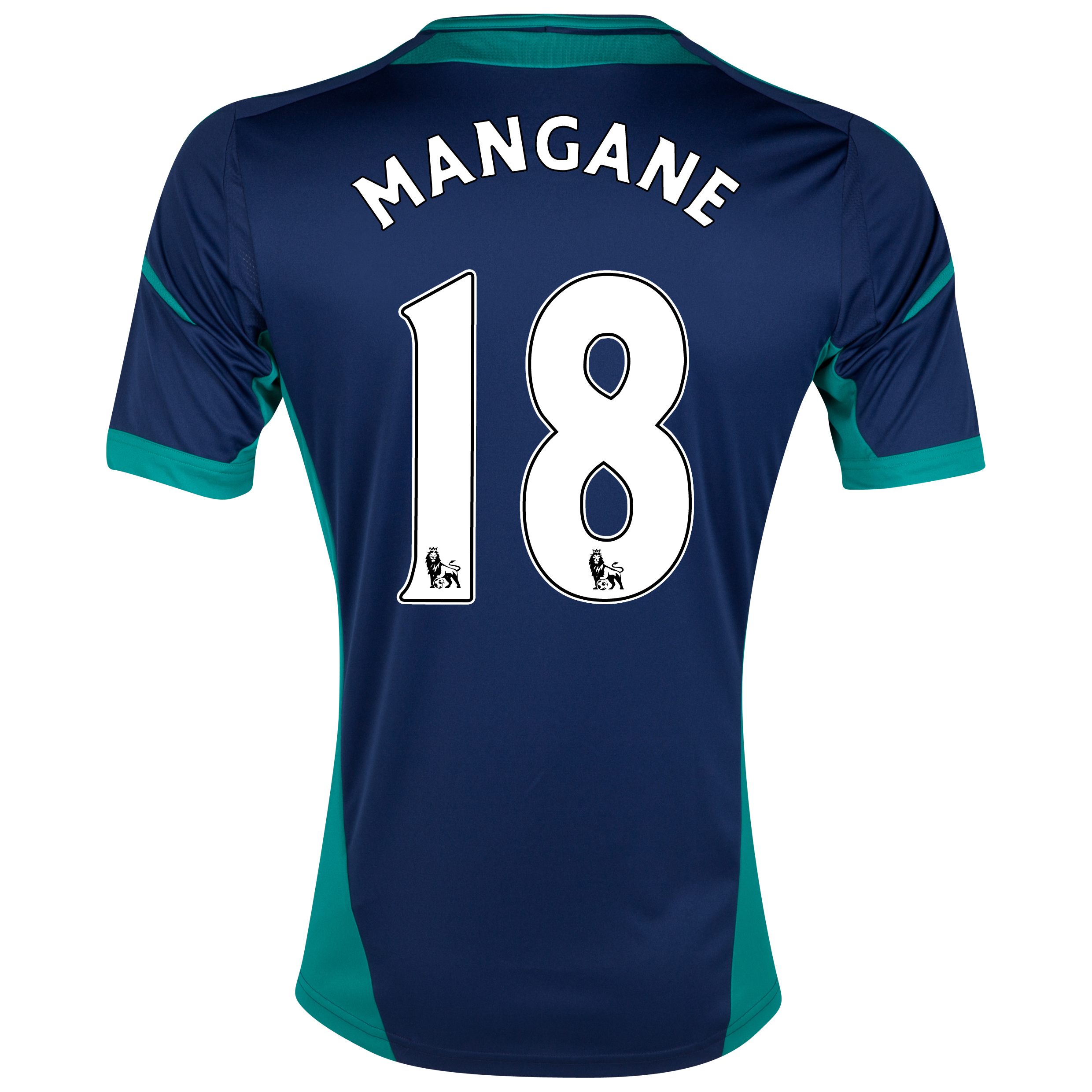 Sunderland Away Shirt 2012/13 with Mangane 18 printing