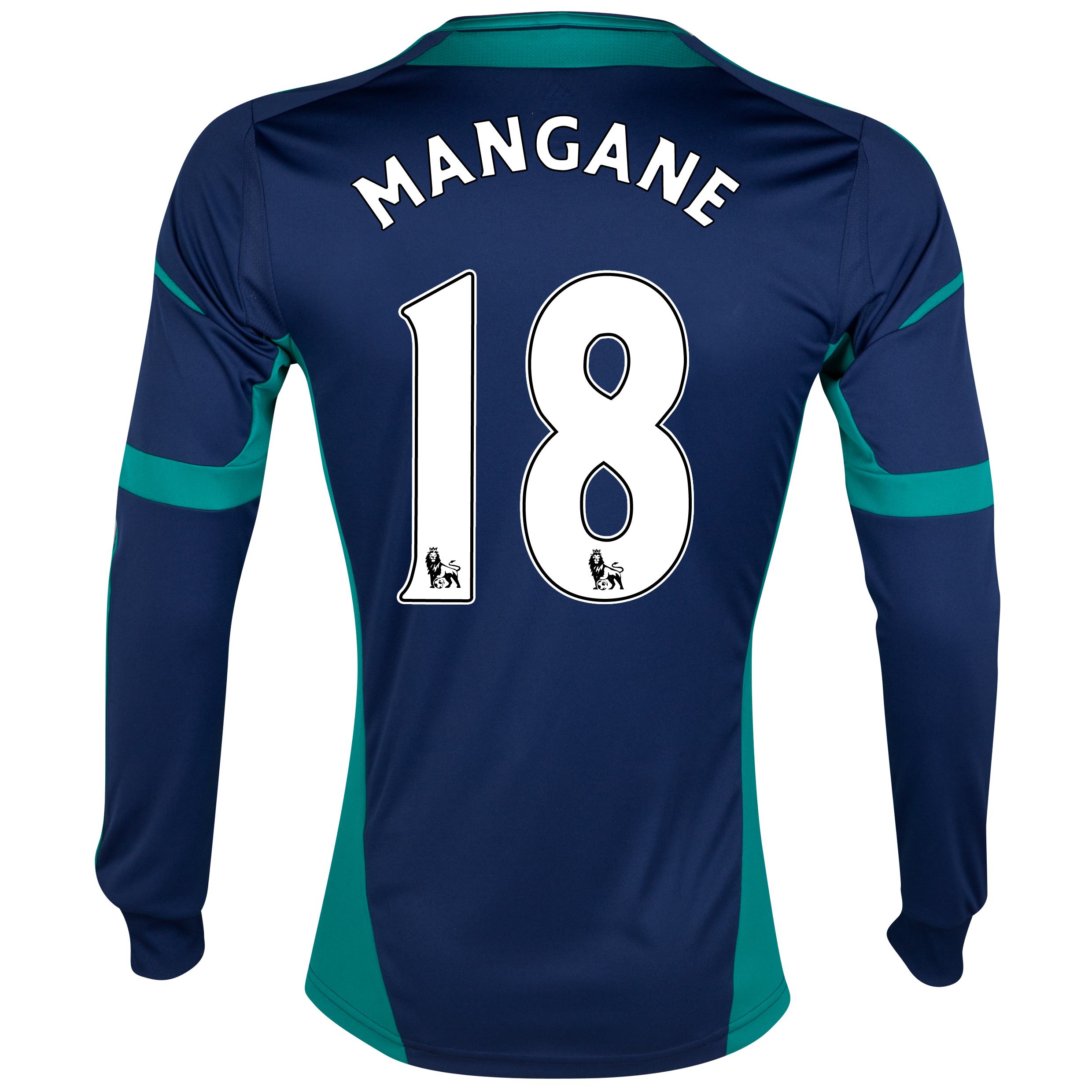 Sunderland Away Shirt 2012/13 - Long Sleeved - Junior with Mangane 18 printing