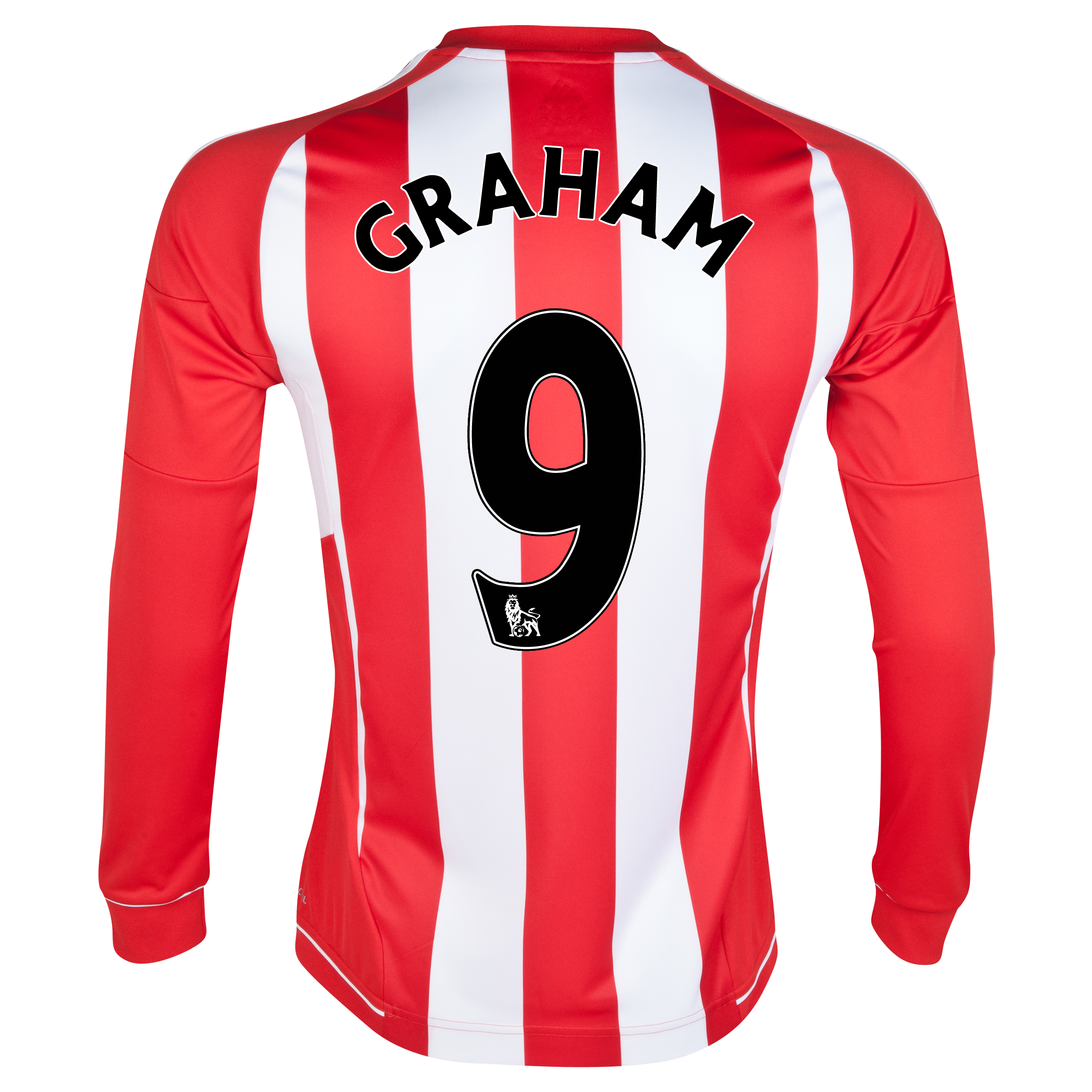 Sunderland Home Shirt 2012/13 - Long Sleeved with Graham 9 printing