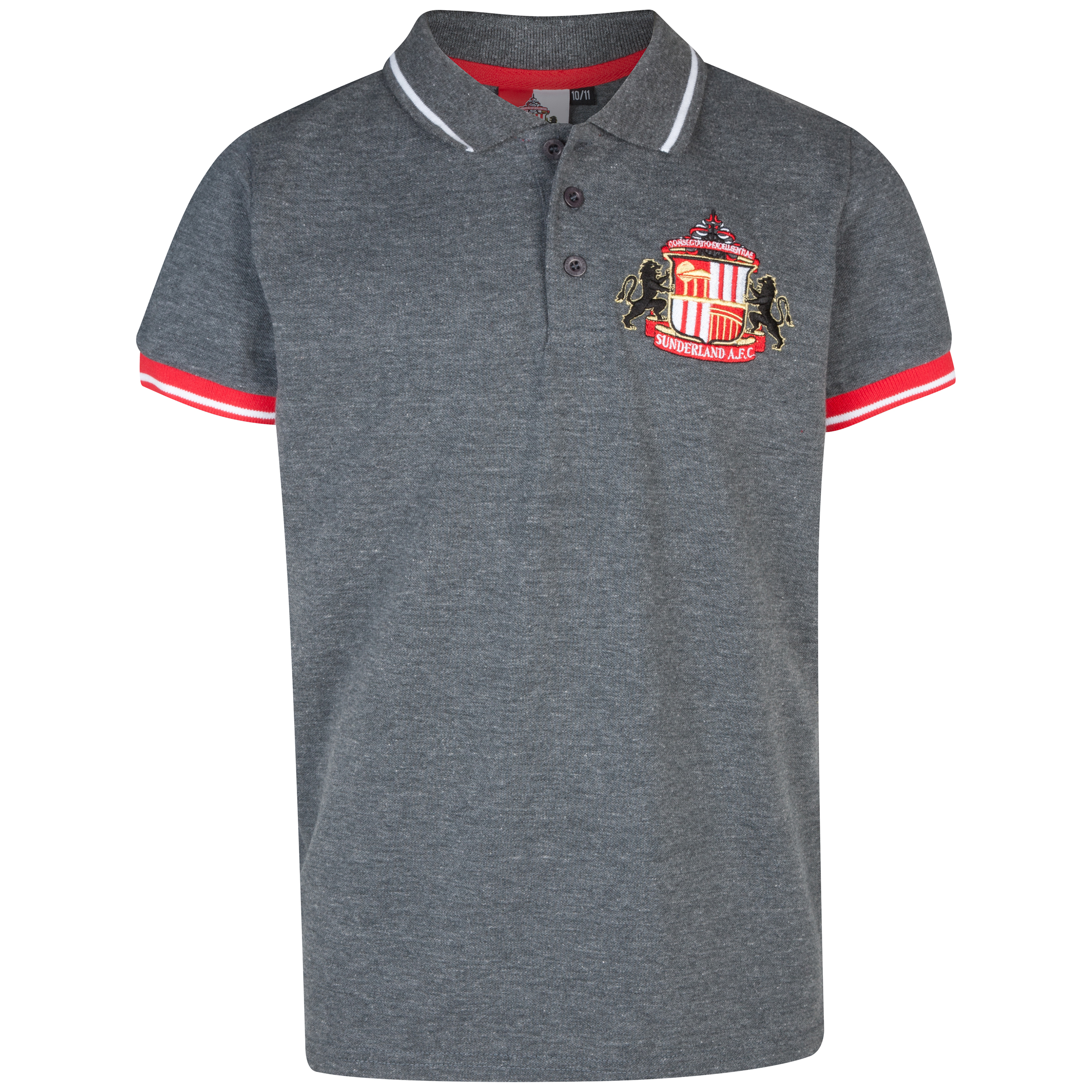 Sunderland Essentials Grounds Polo Shirt - Older Boys Charcoal