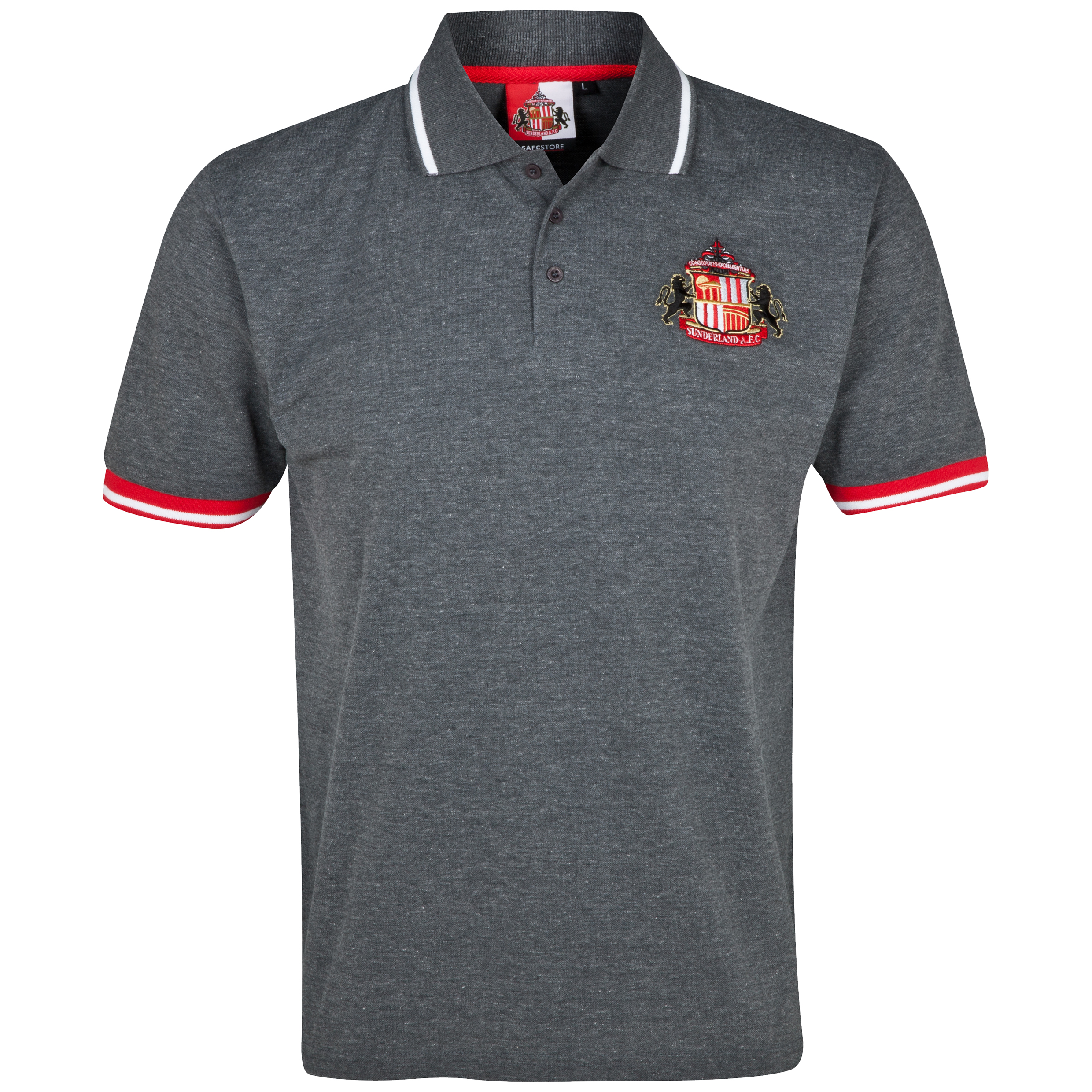 Sunderland Essentials Grounds Polo Shirt - Mens Charcoal