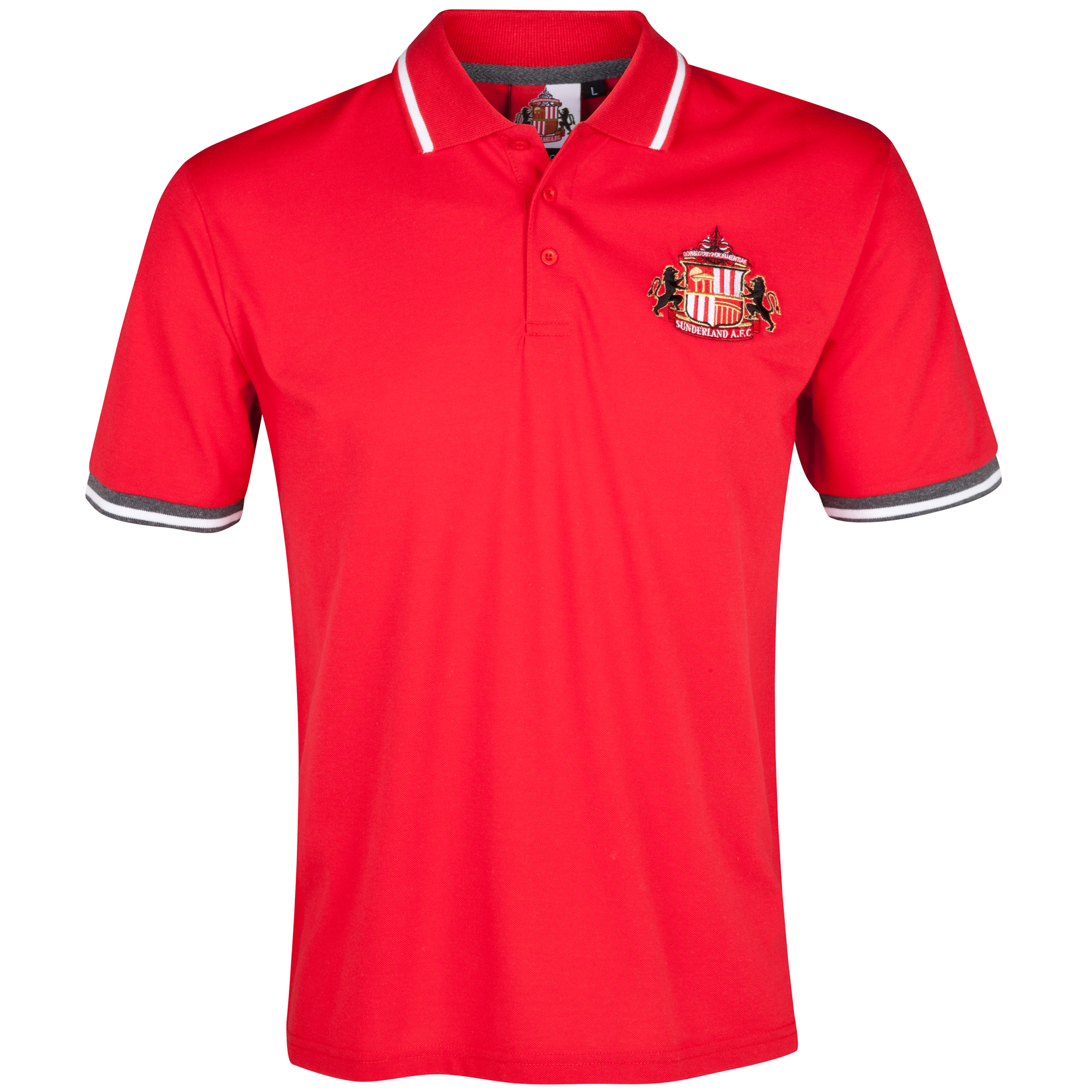 Sunderland Essentials Grounds Polo Shirt - Mens Red