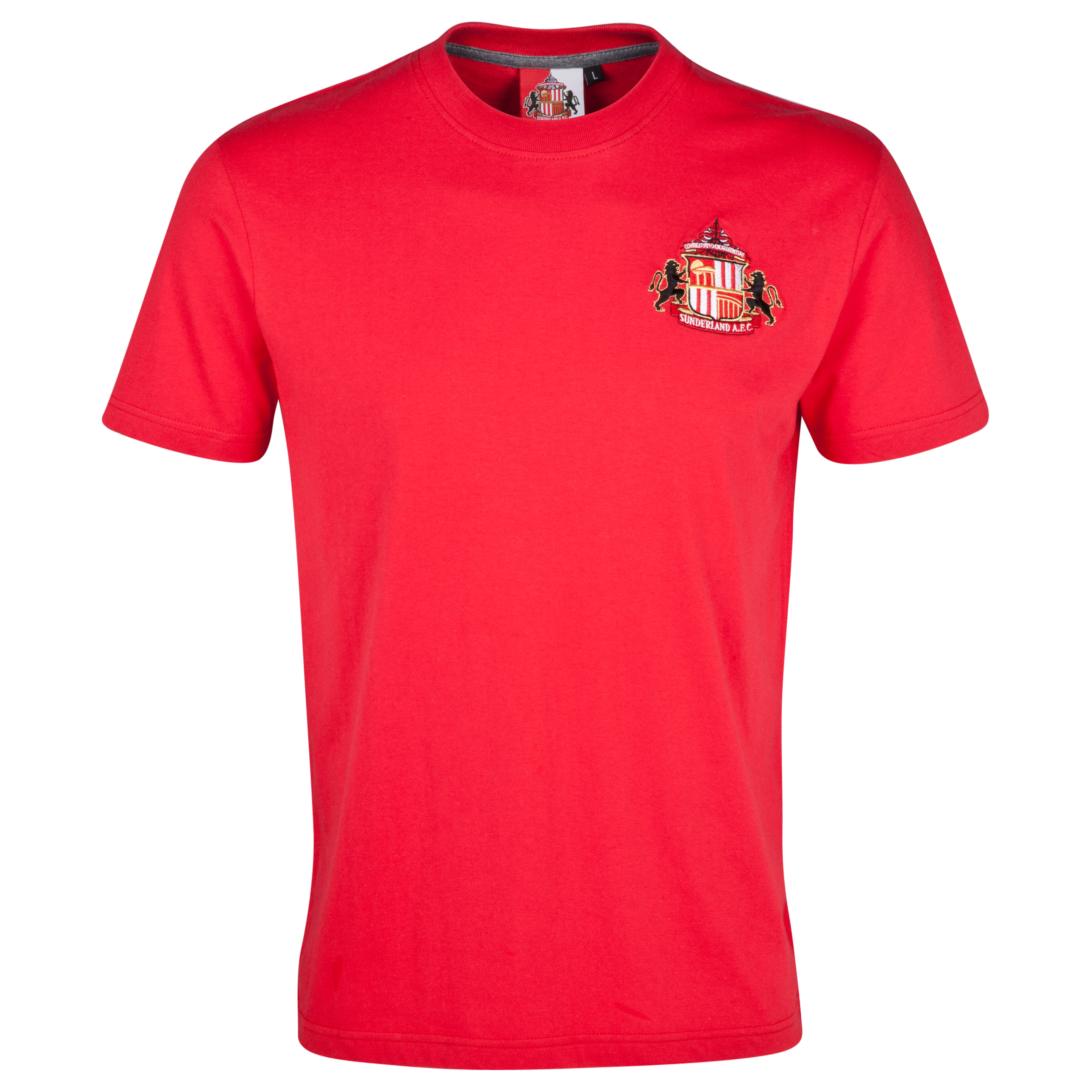 Sunderland Essentials Emblem T-Shirt - Mens Red