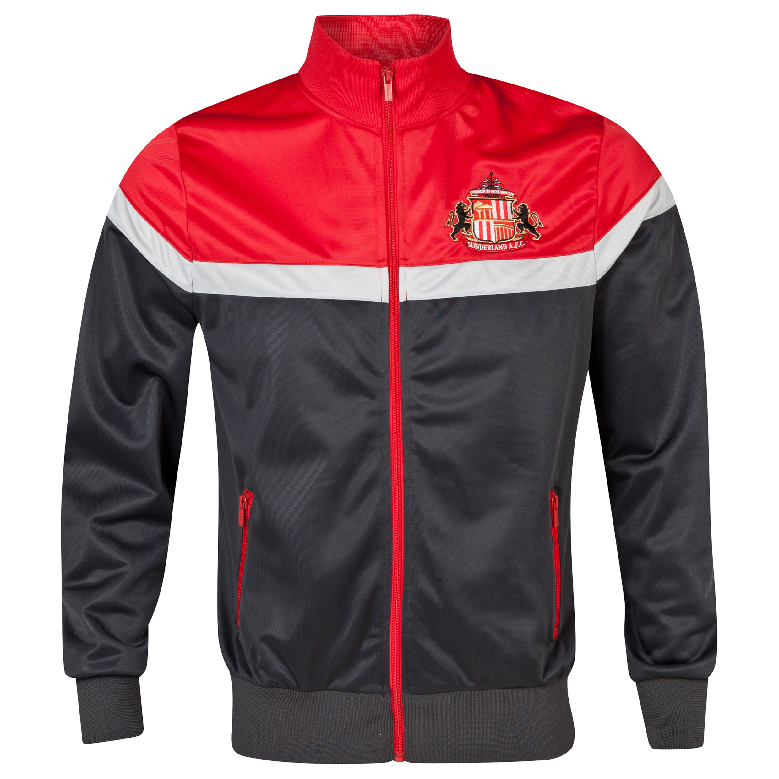 Sunderland Essentials Tri Track Top - Mens Dk Grey
