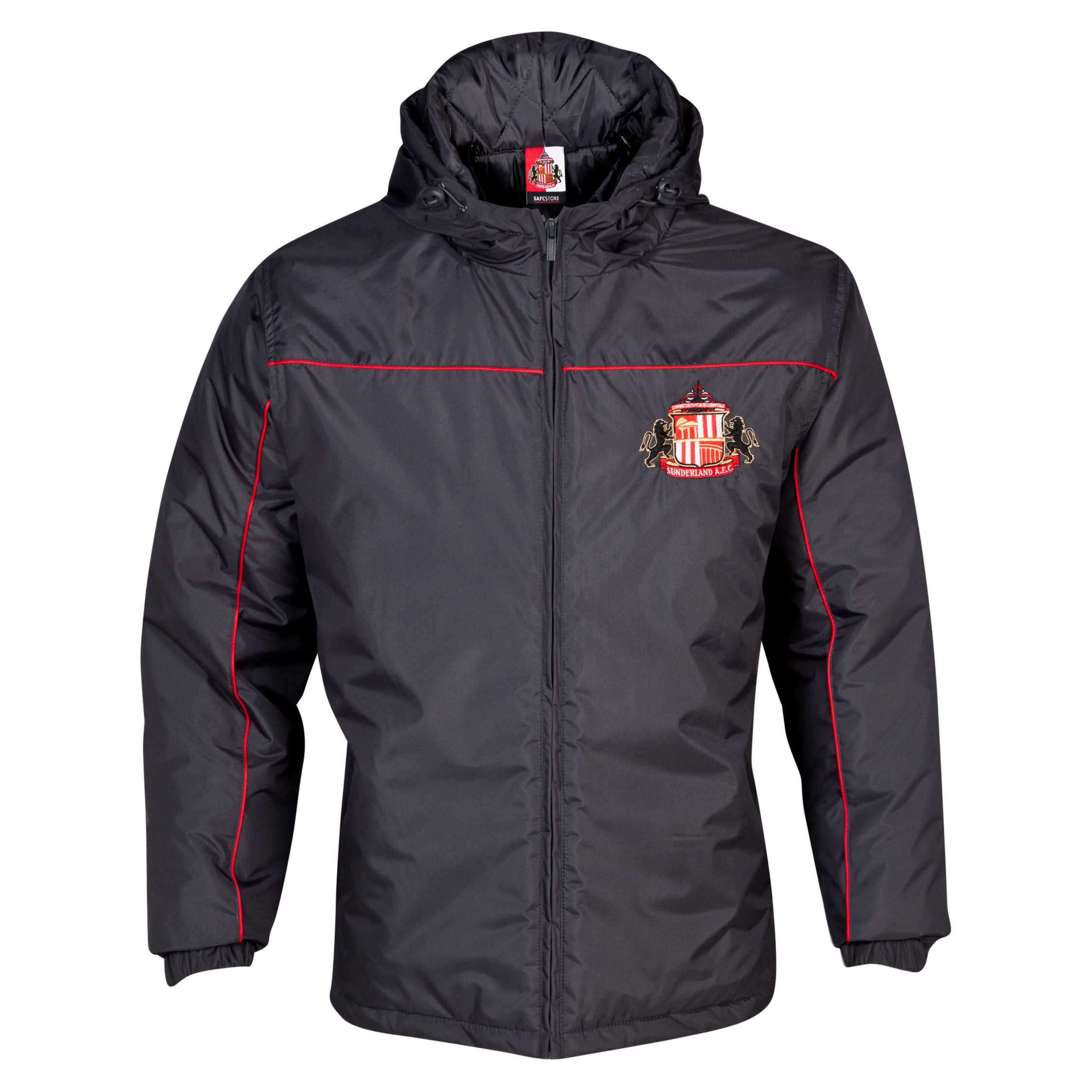Sunderland Essentials Match Coat - Older Boys Dk Grey