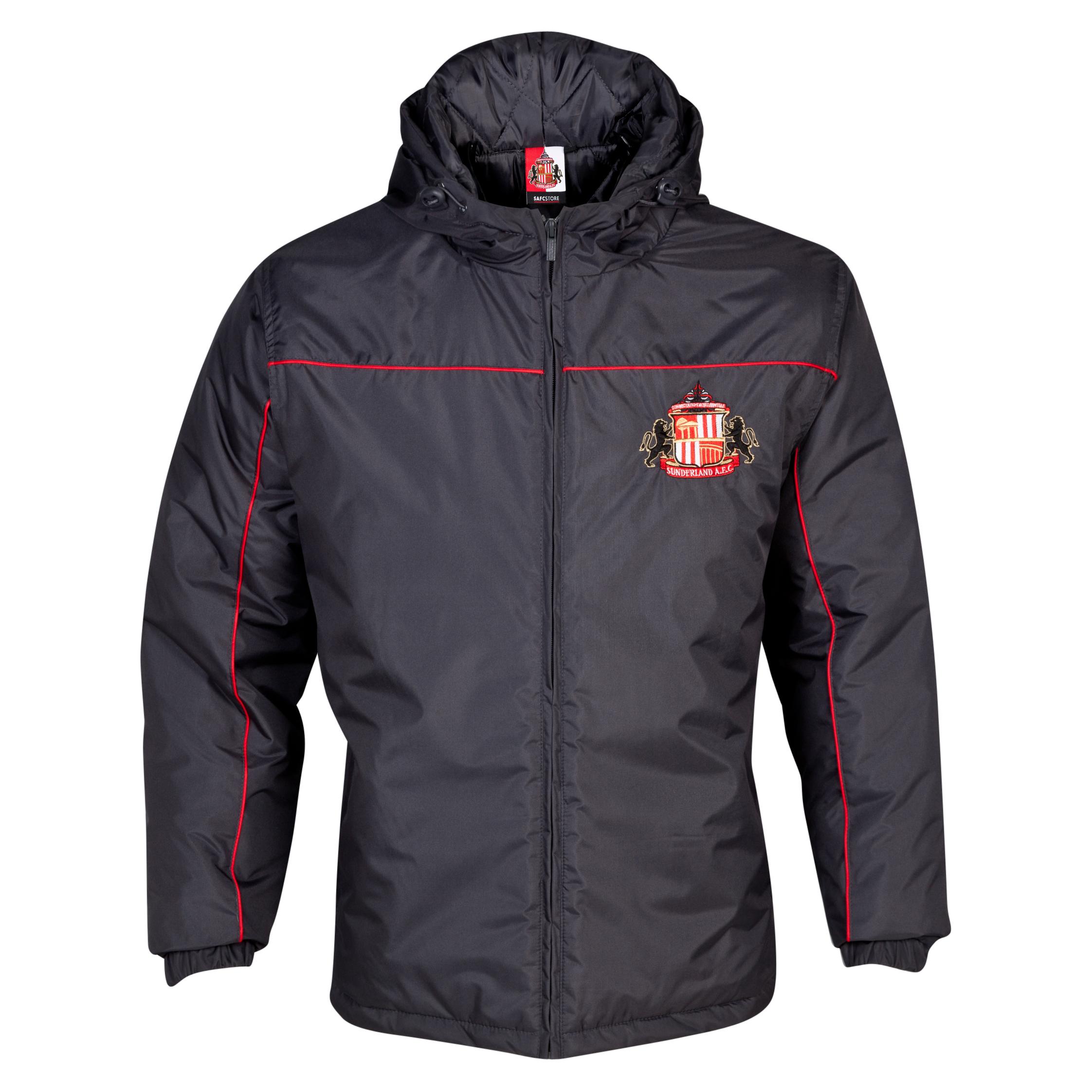 Sunderland Essentials Match Coat - Older Boys Dk Grey