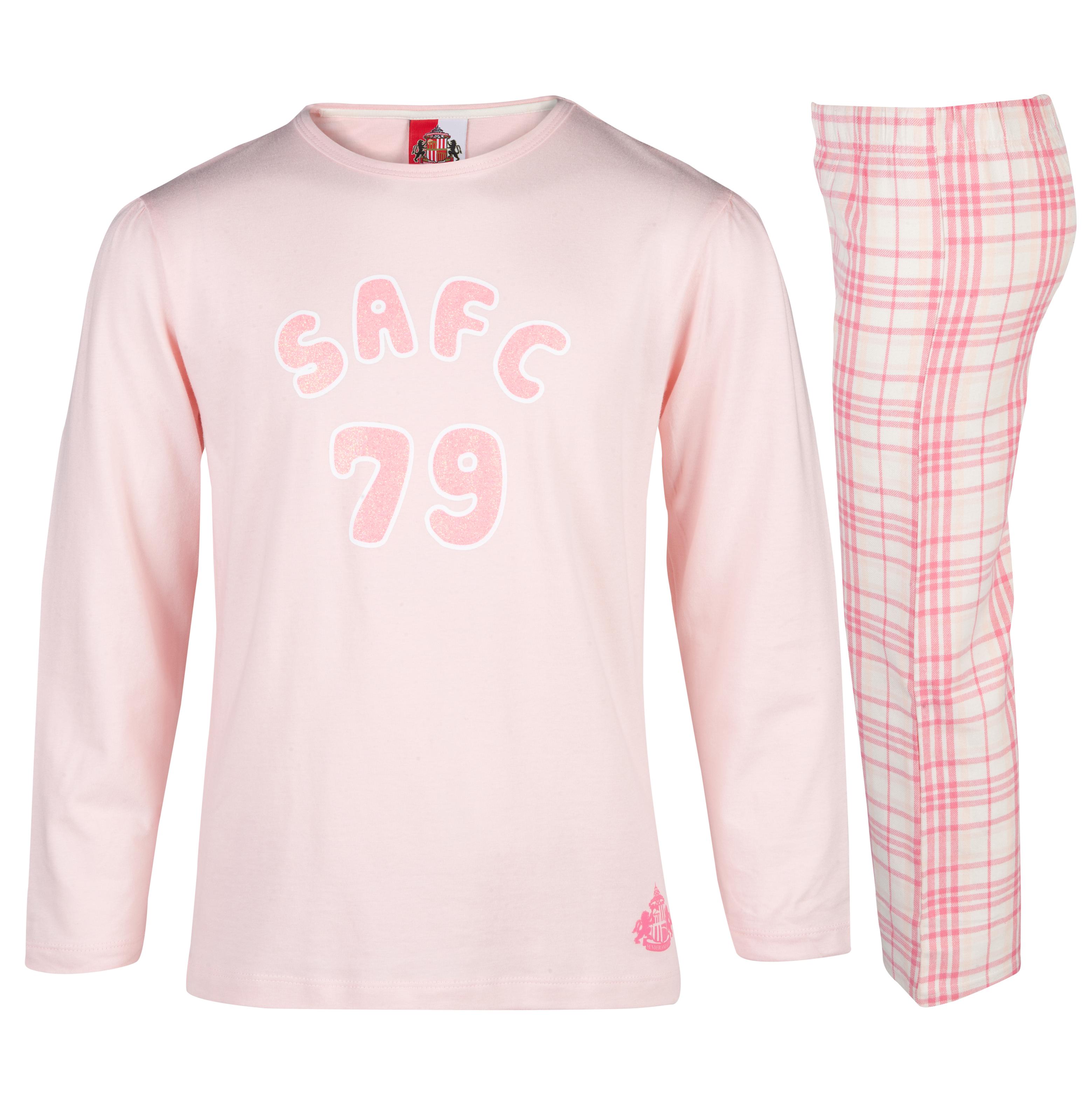Sunderland 79 Pyjamas Girls Pink