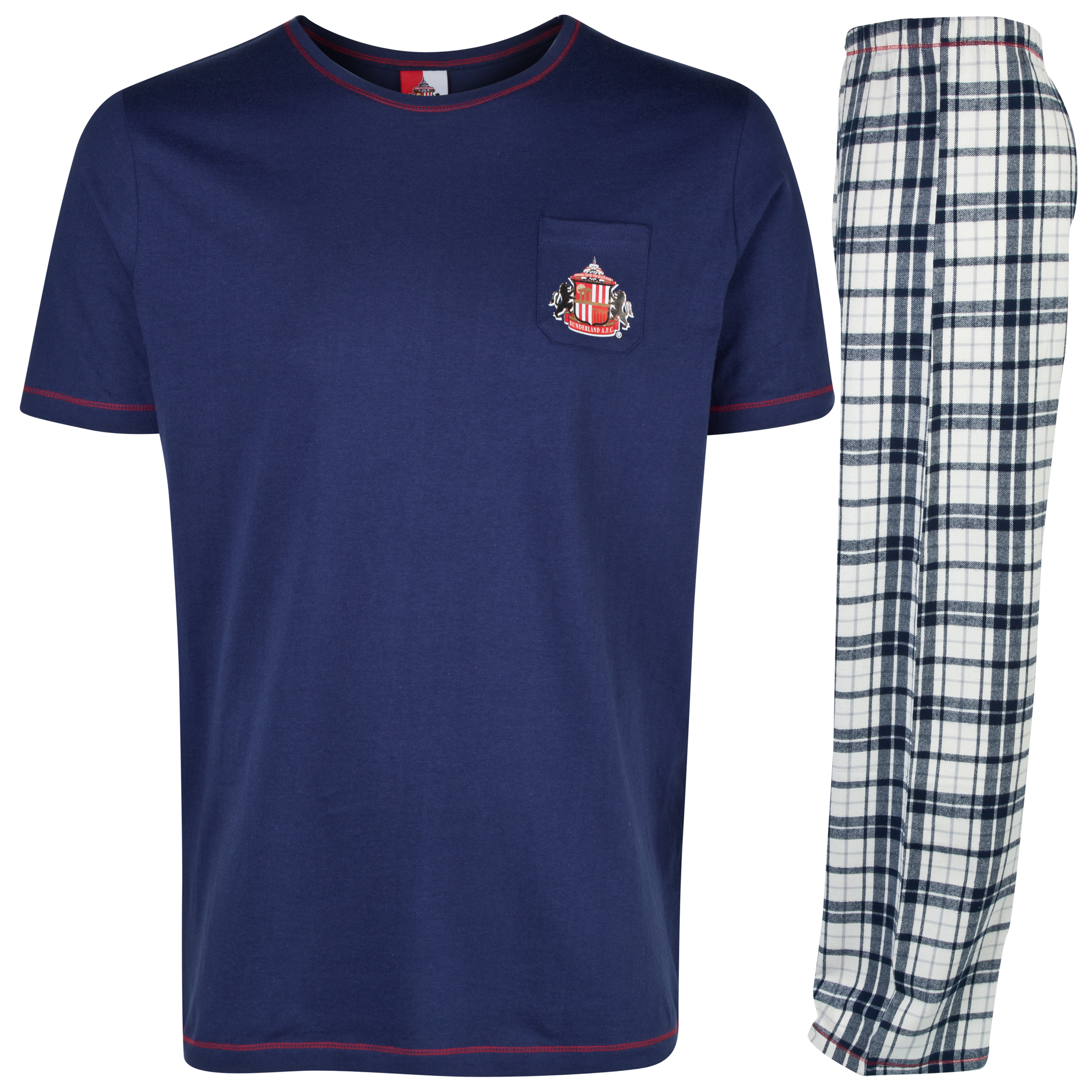 Sunderland Check Pyjamas Mens Navy