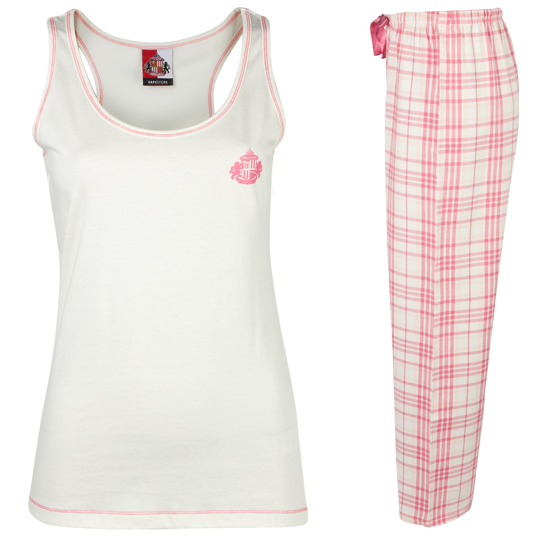 Sunderland Check Pyjamas Womens Pink
