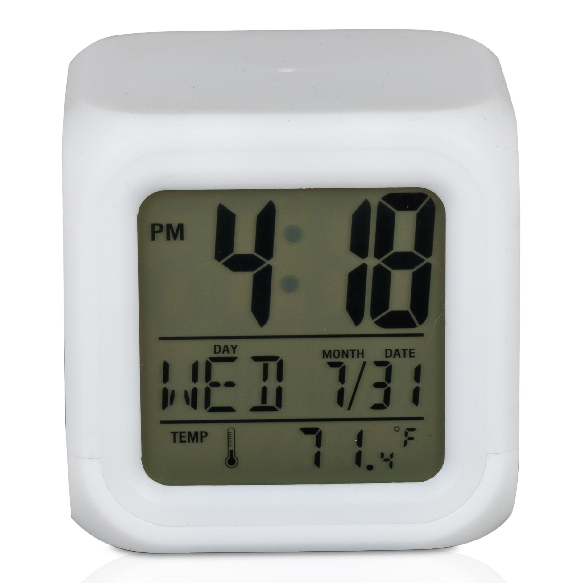 Sunderland Cube Glow Alarm Clock