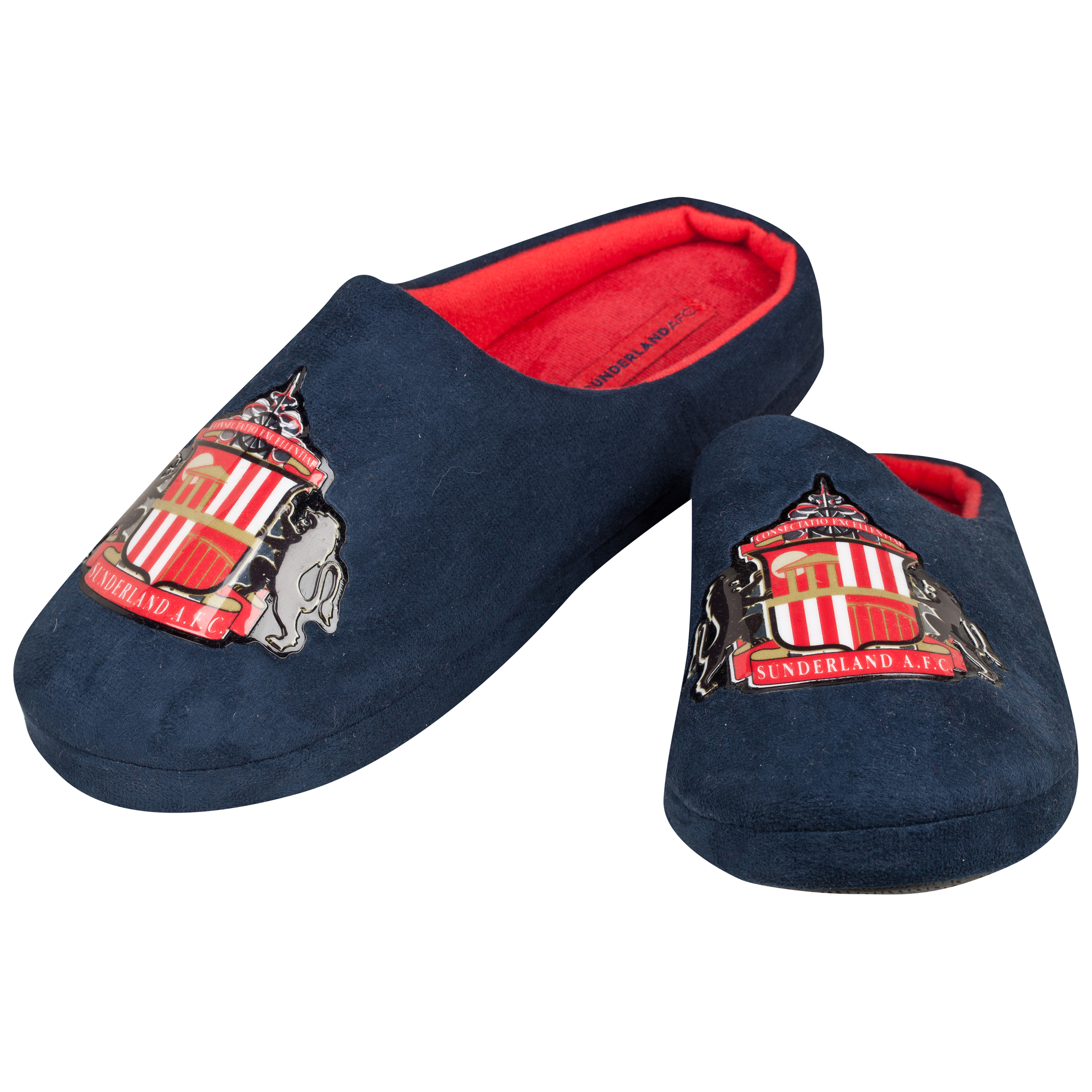Sunderland Mason Slippers - Navy/Red - Mens Navy