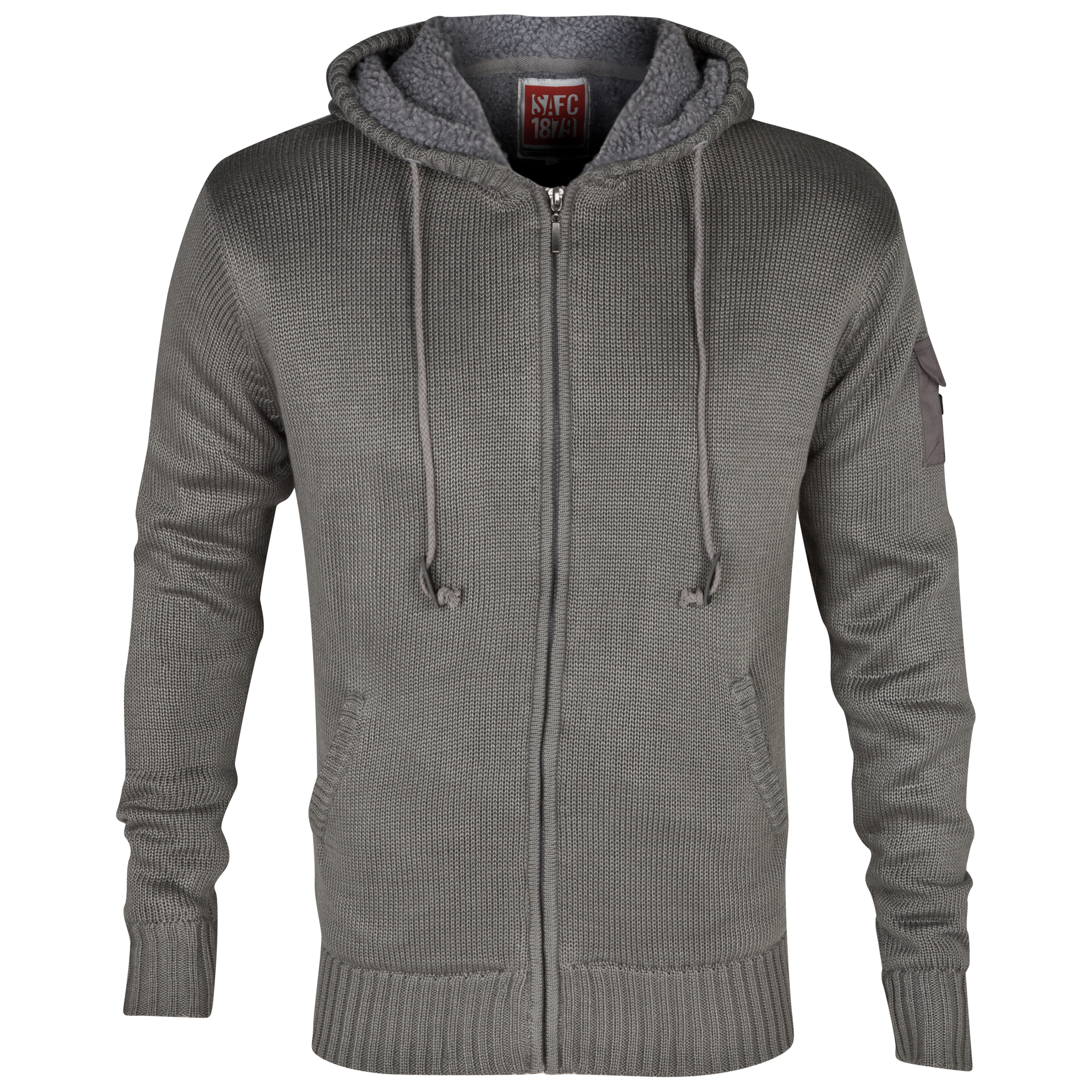 Sunderland Ashwood Knit Hoodie - Mens Charcoal