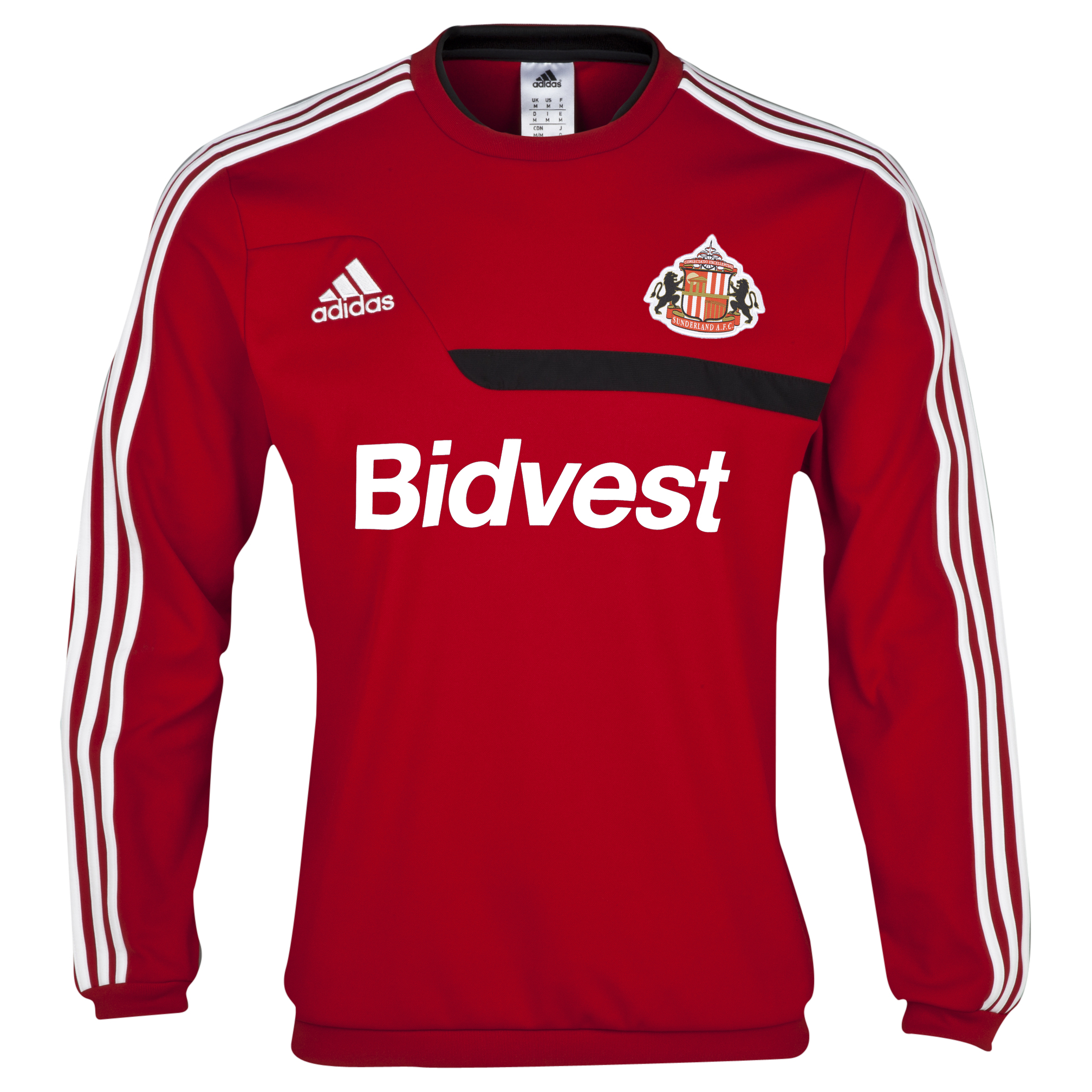 Sunderland Tiro Training Sweat Top Red