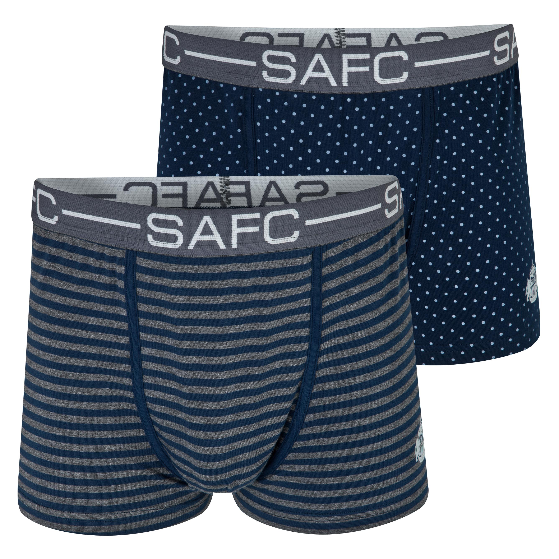 Sunderland 2Pk Boxer Shorts - Mens Navy