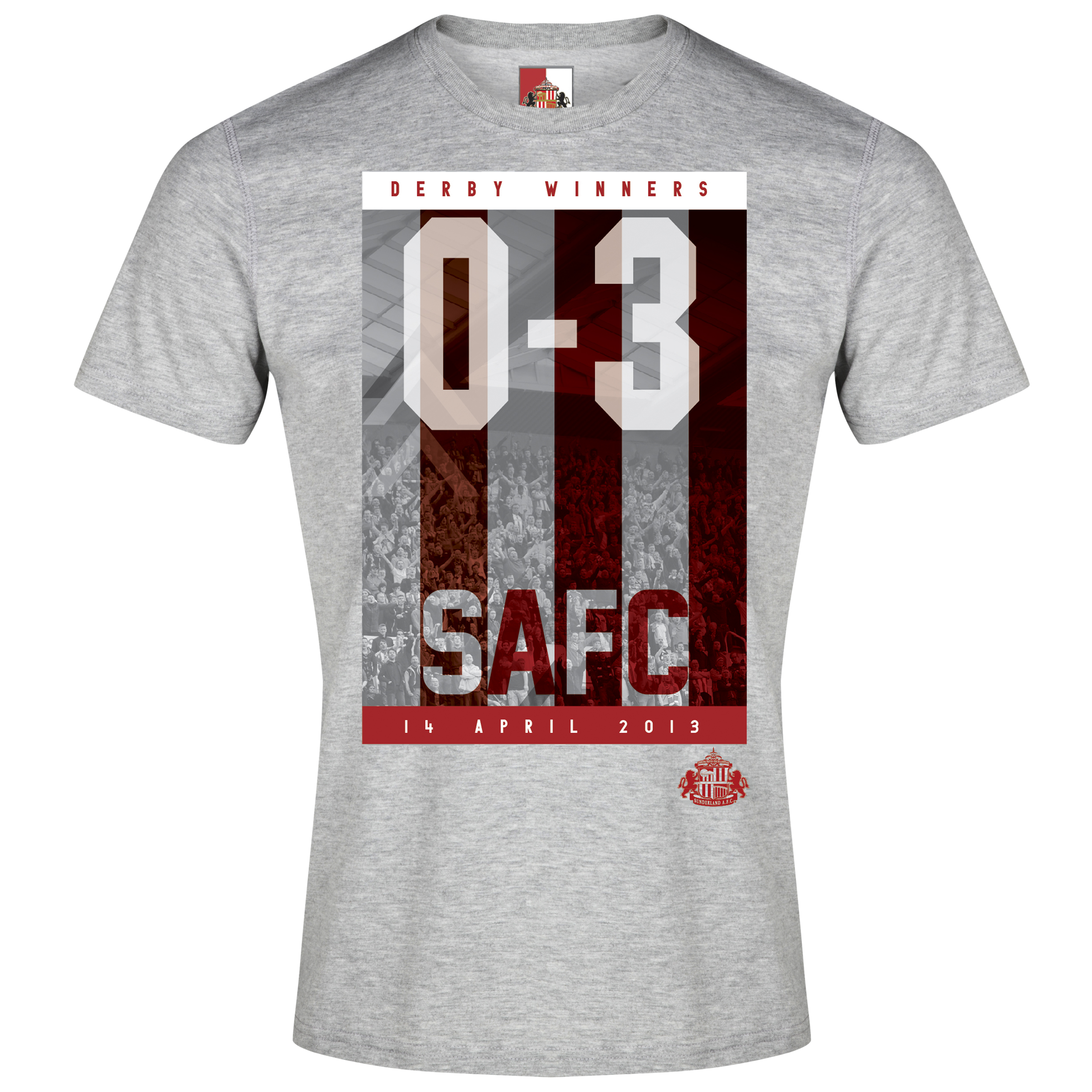 Sunderland 2for20 Derby Win T-Shirt - Mens Grey