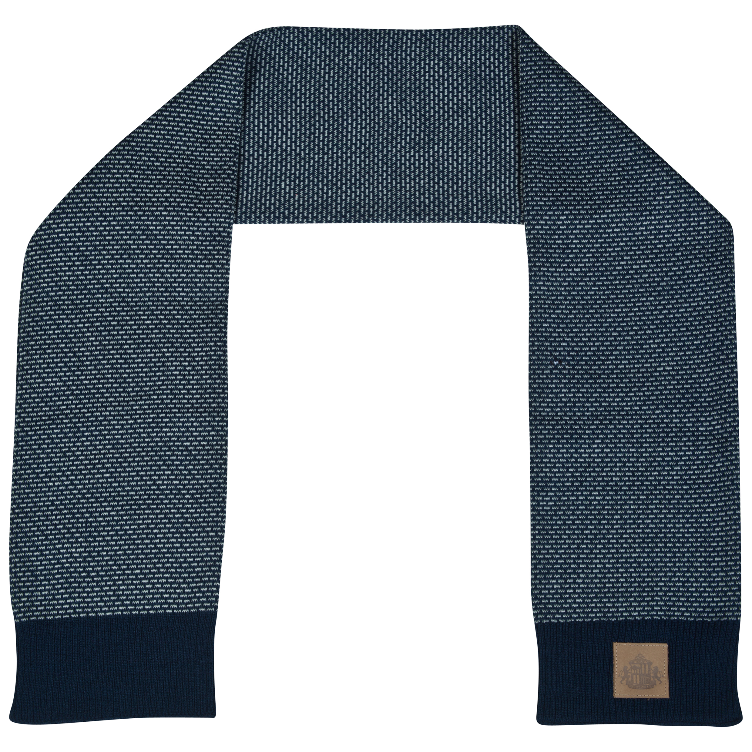 Sunderland Perforate Scarf Navy