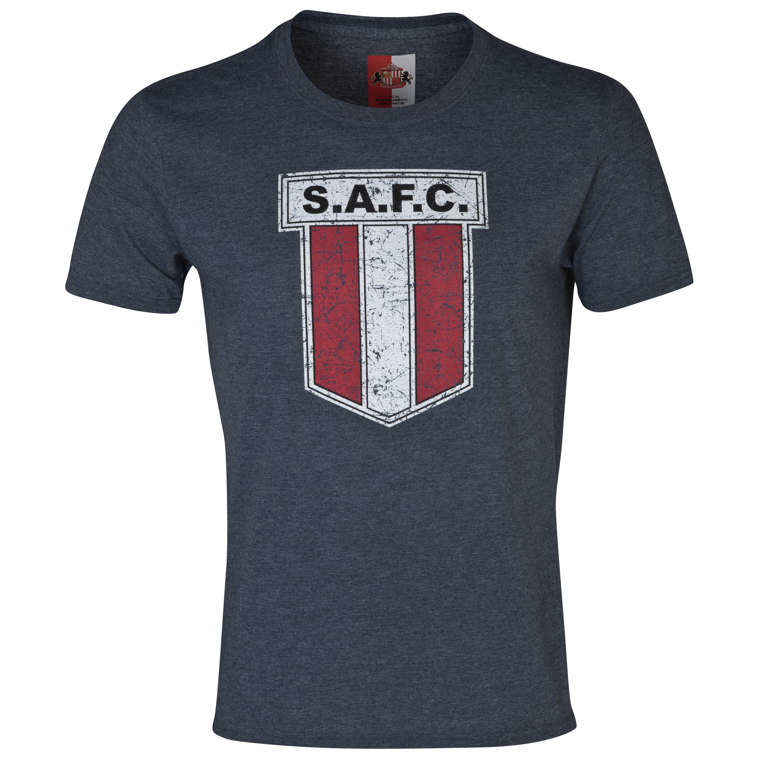Sunderland 2 For T Heritage Crest T-Shirt- Mens Navy
