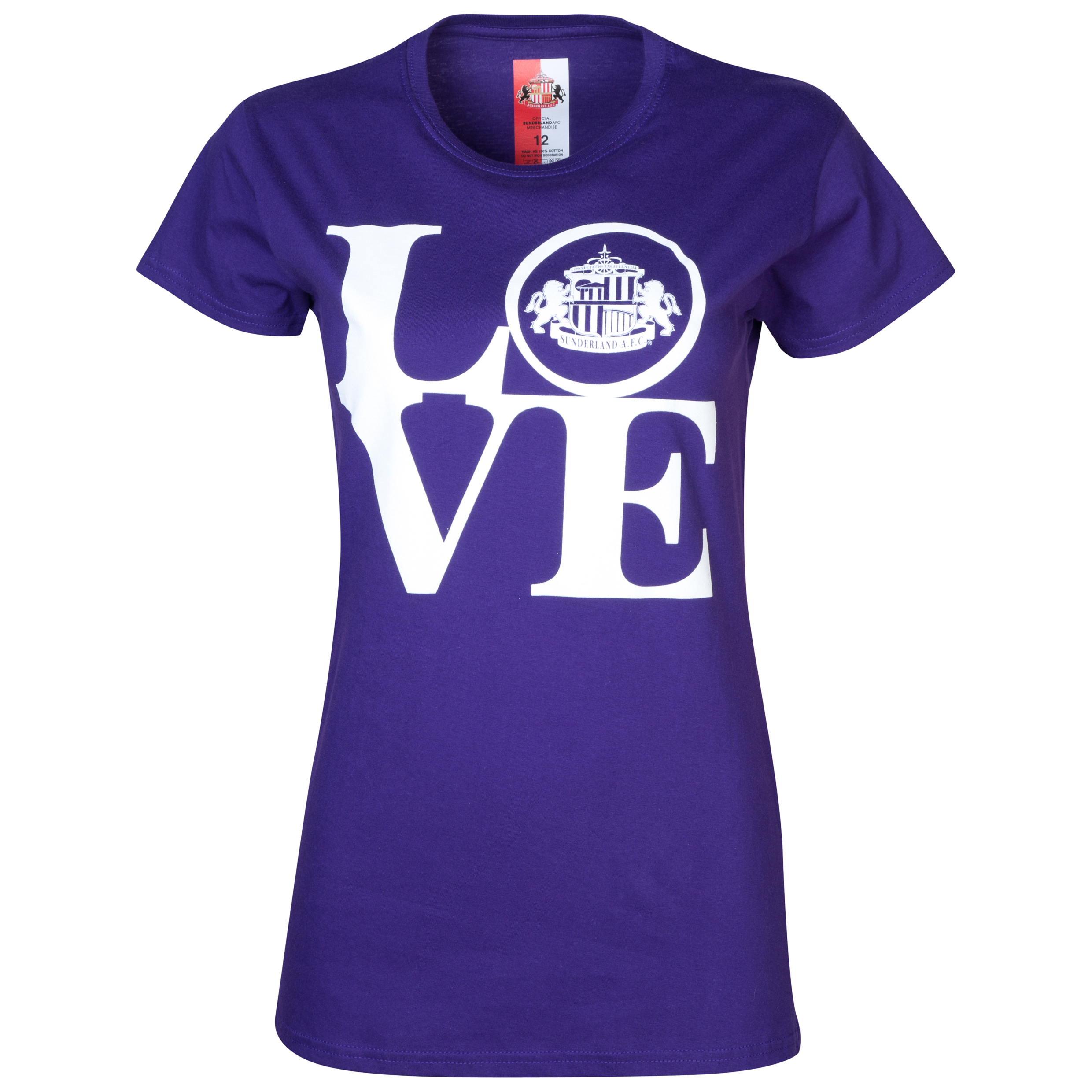 Sunderland 2 FOR 20 Love T-Shirt- Womens Purple