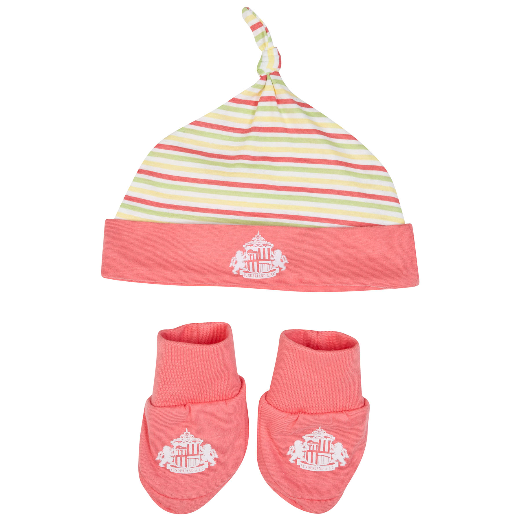 Sunderland Hola Hat and Booties-Baby Pink