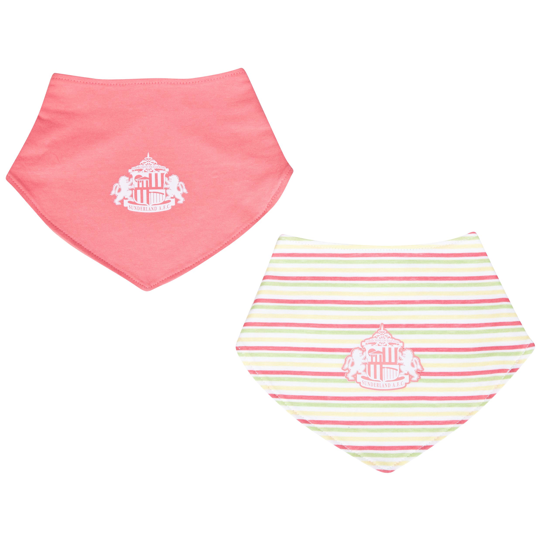 Sunderland Biba 2PK Bibs-Baby Pink