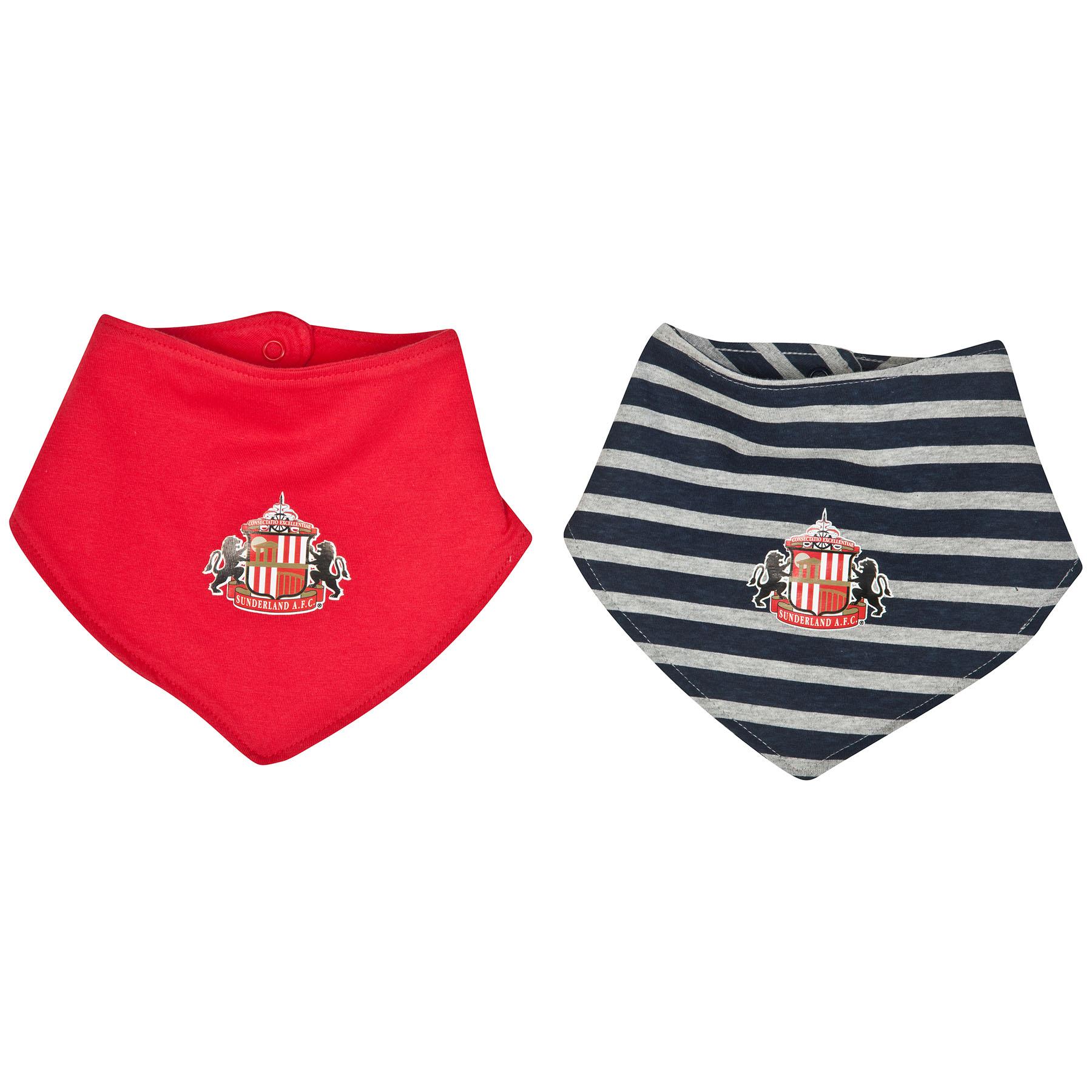 Sunderland Western 2PK Bibs-Baby Red