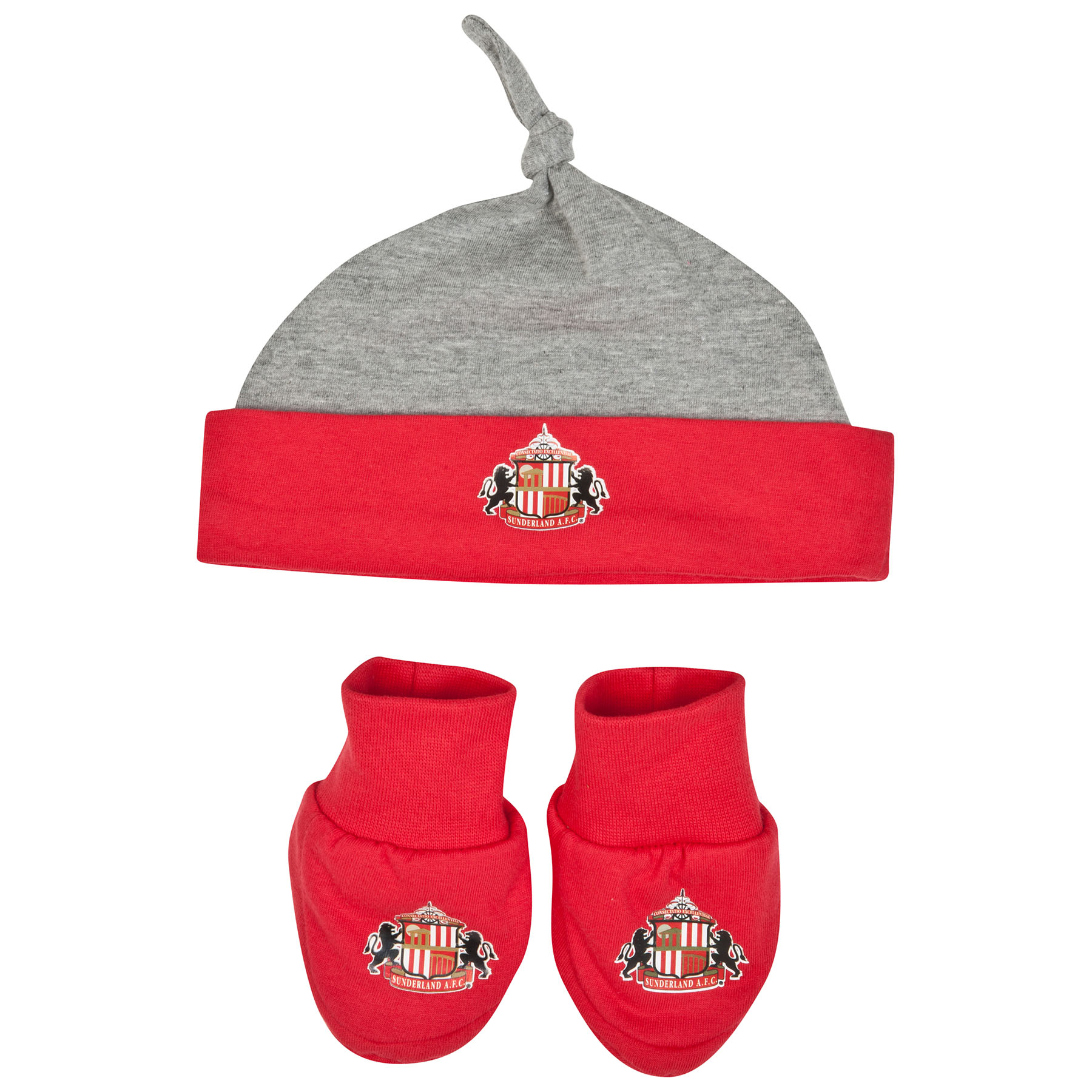 Sunderland Harry Hat and Booties-Baby Red