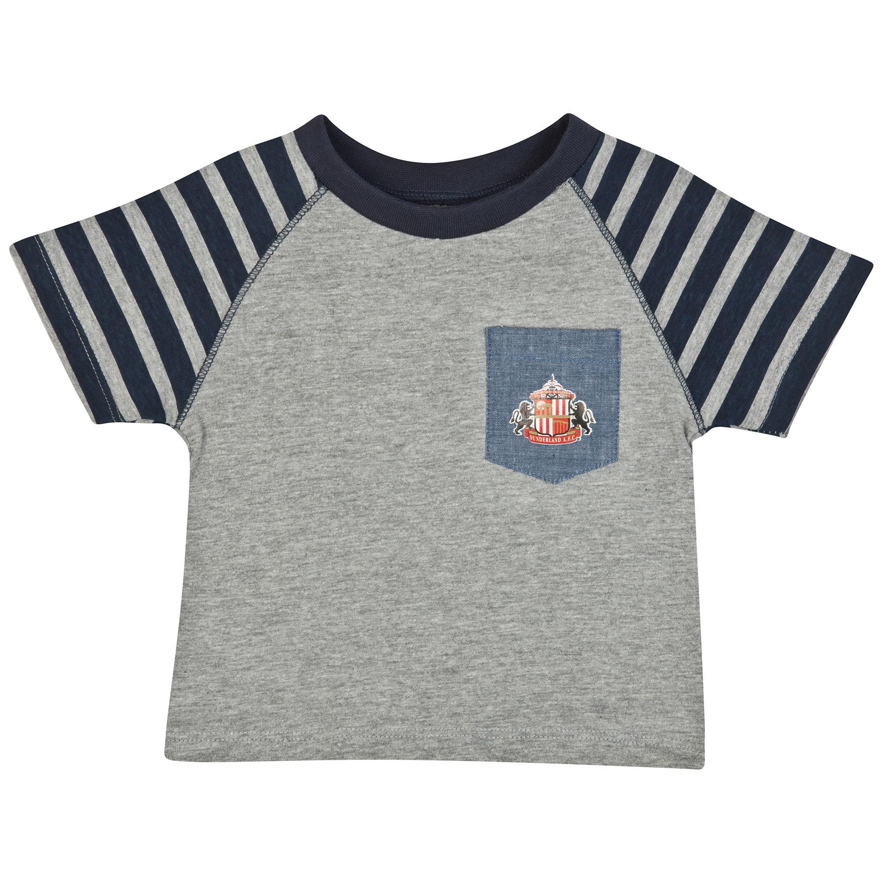 Sunderland Lads T-Shirt-Baby Lt Grey