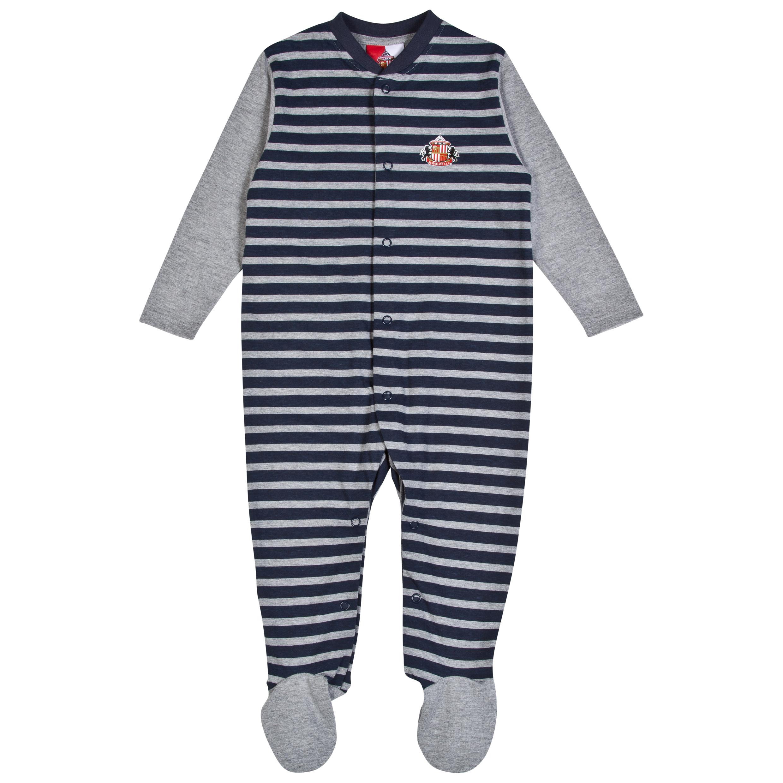 Sunderland Lads Sleepsuit-Baby Lt Grey