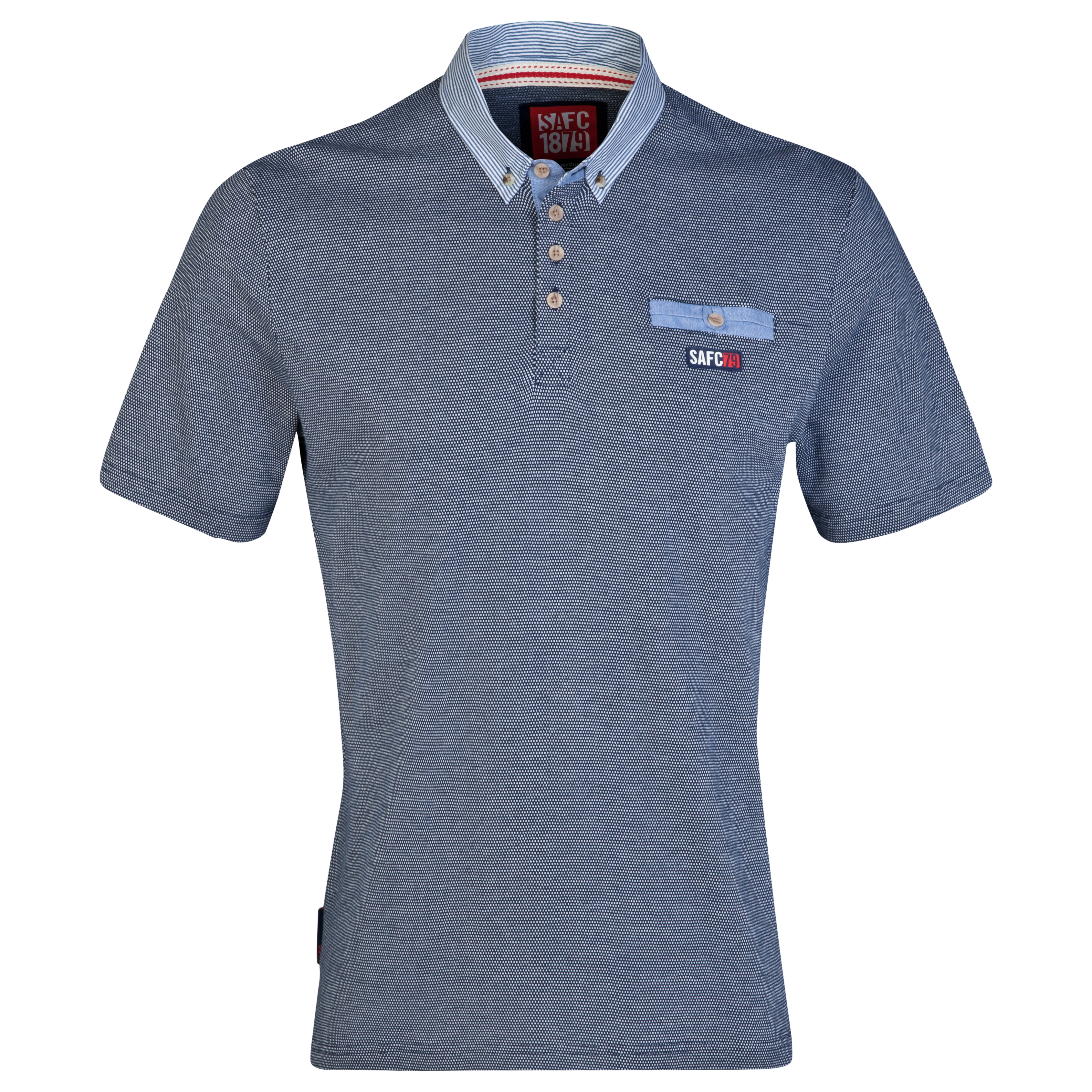 Sunderland Tone Polo Shirt- Mens Navy