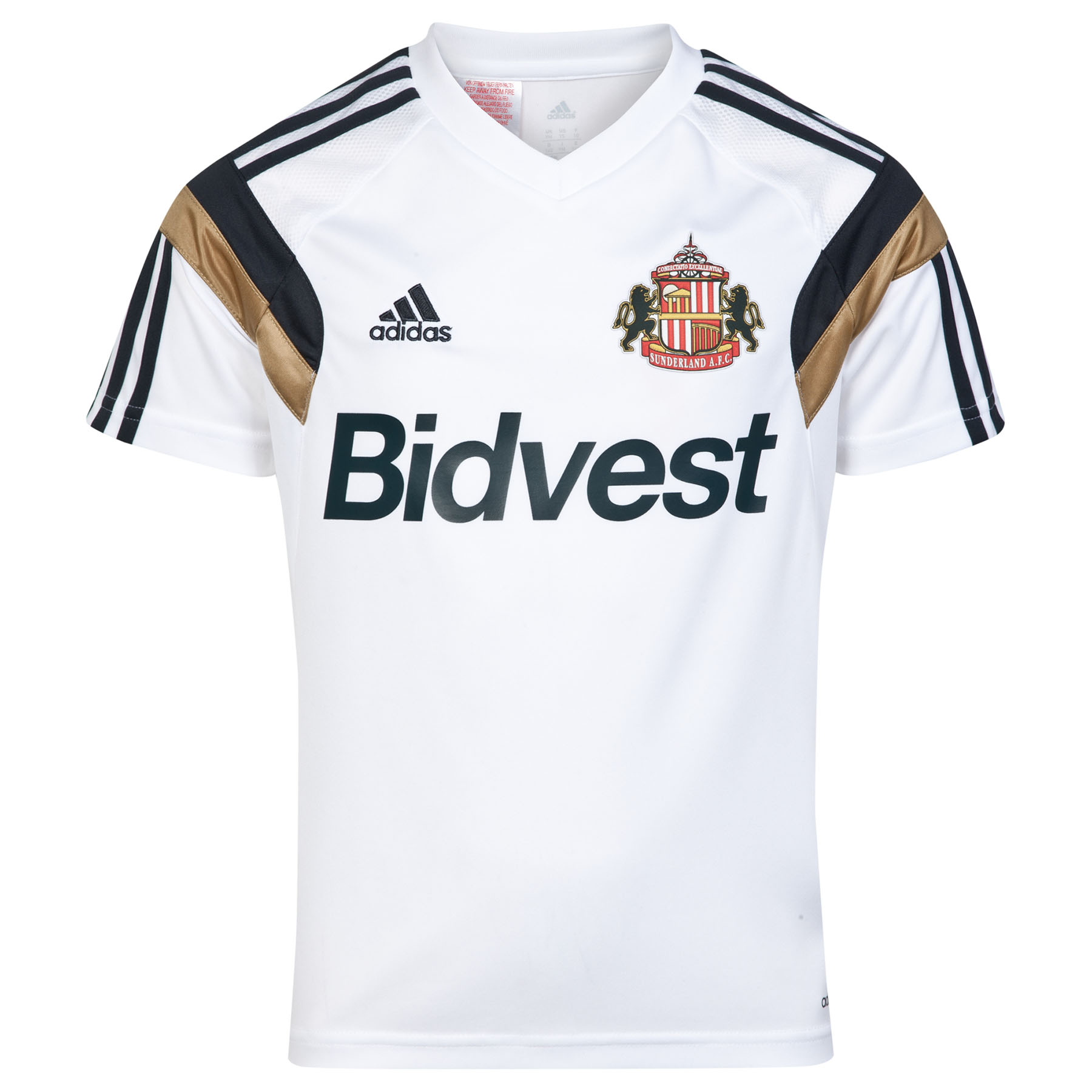 Sunderland Condivo 14 Training Jersey - Junior White