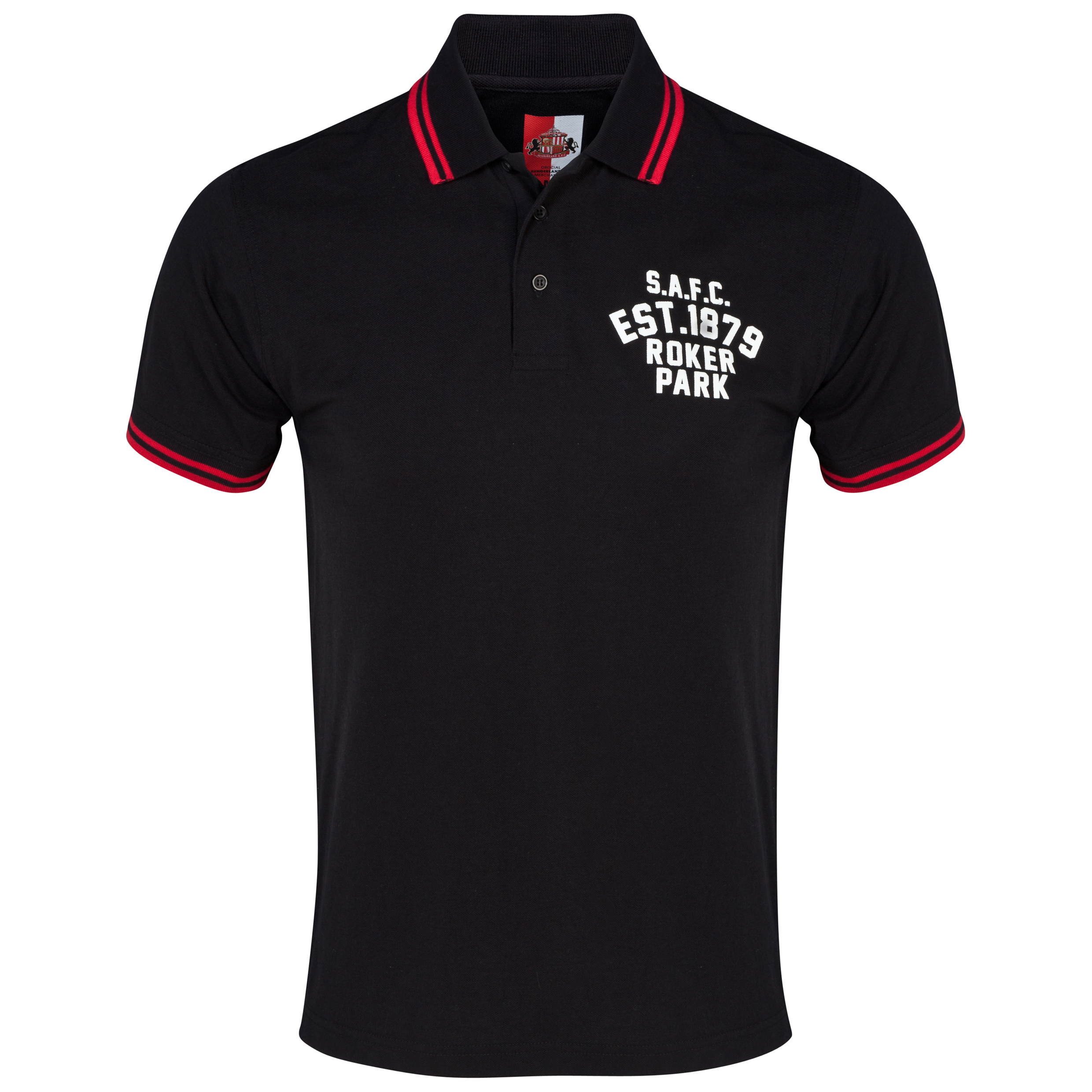 Sunderland Essentials Grounds Polo Shirt Black
